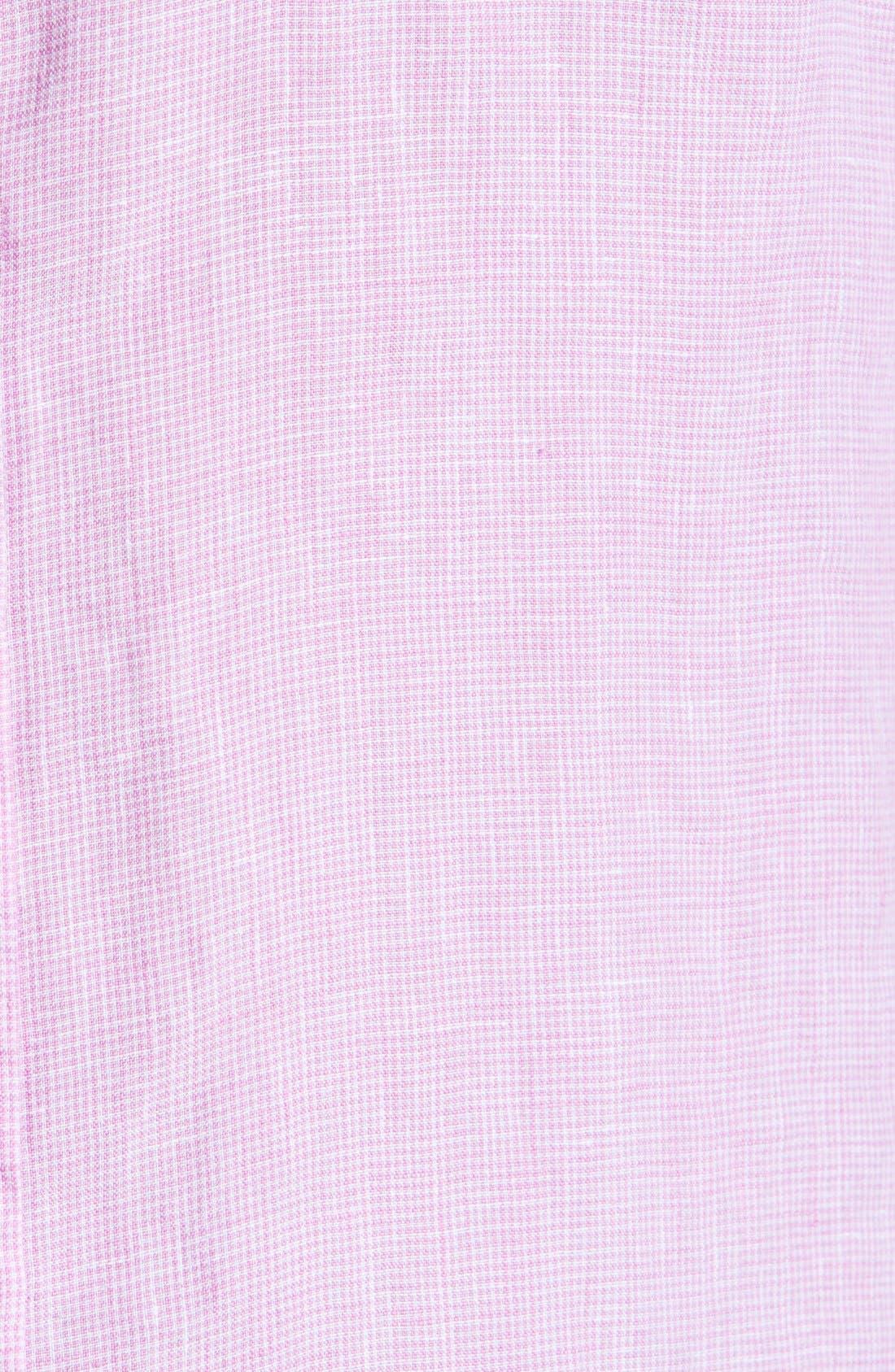 Alternate Image 3  - Toscano Linen Sport Shirt (Big & Tall)