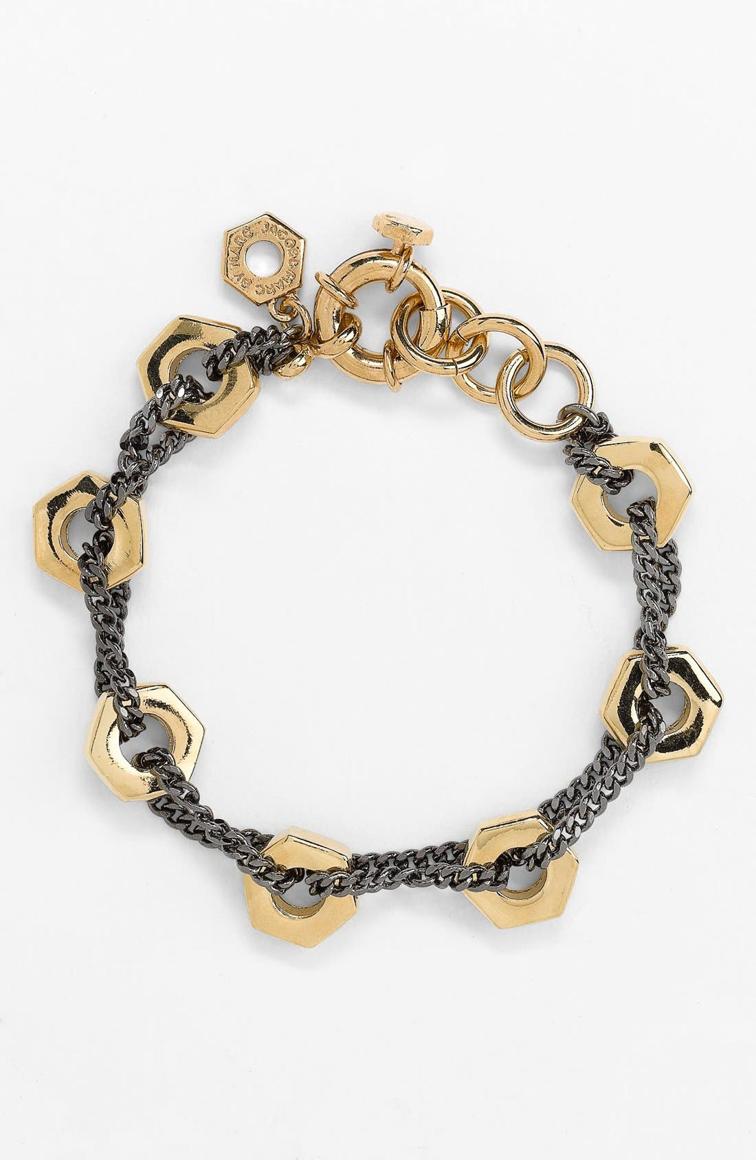 Alternate Image 1 Selected - MARC BY MARC JACOBS 'Bolts' Two Tone Link Bracelet