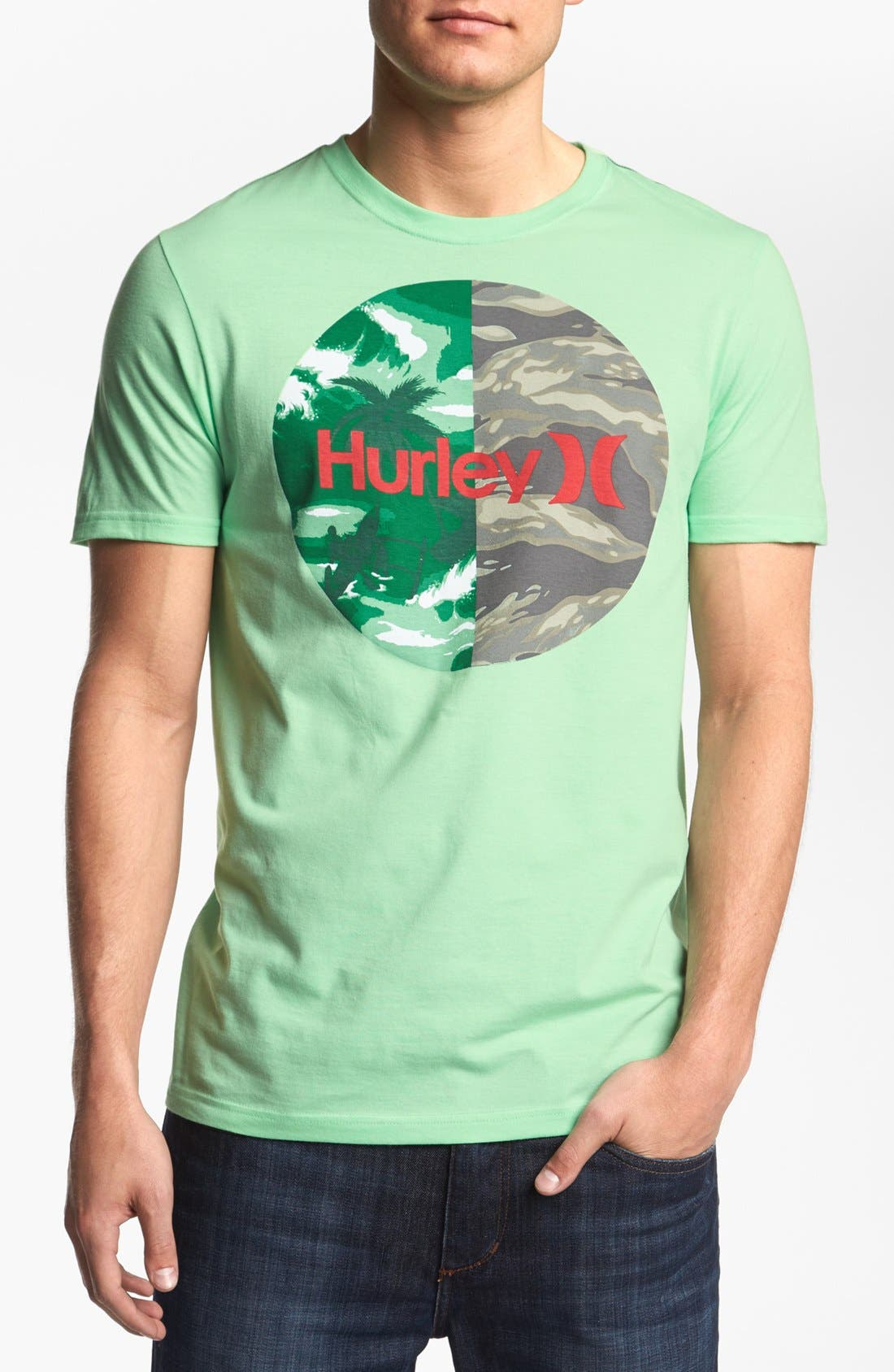 Alternate Image 1 Selected - Hurley 'Krush Flamo' T-Shirt
