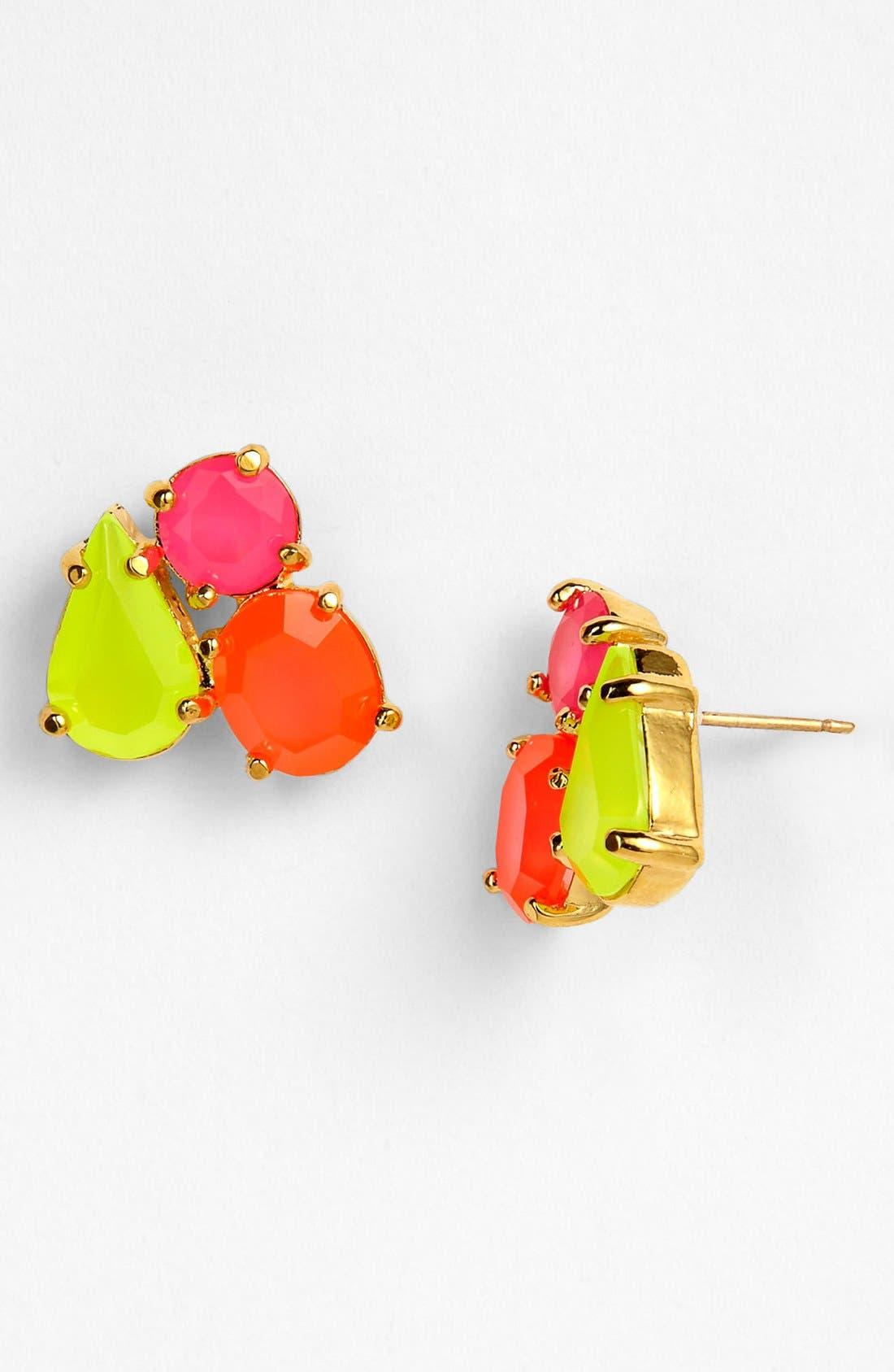 Alternate Image 1 Selected - kate spade new york multi stone stud earrings