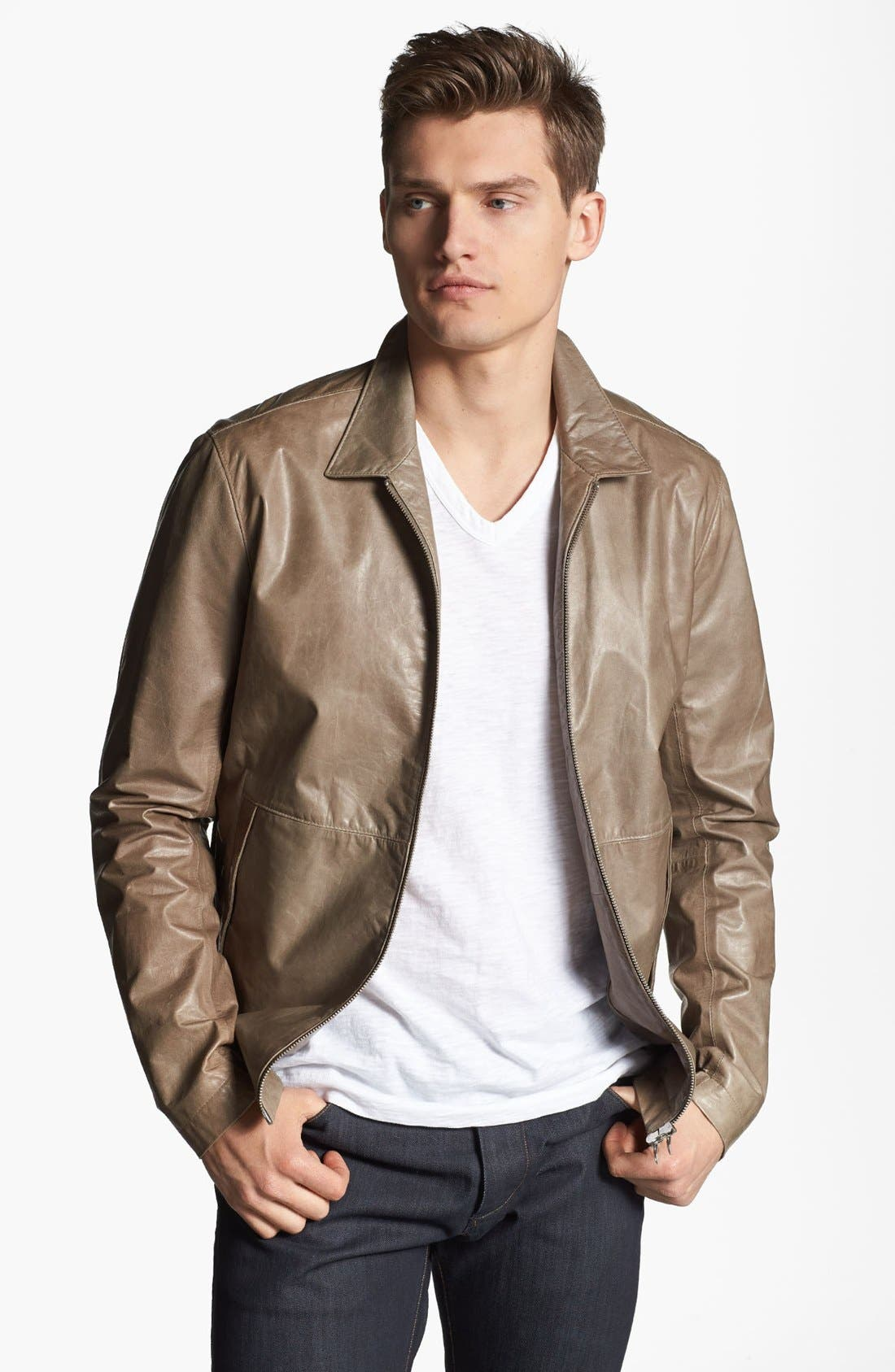 Alternate Image 1 Selected - Theory 'Ion L Laubert' Leather Jacket