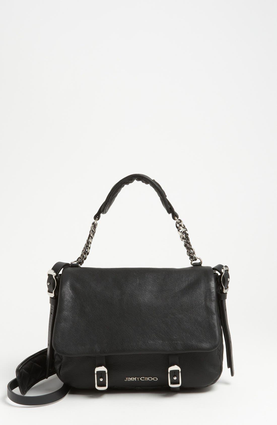 Main Image - Jimmy Choo 'Becka Biker - Small' Leather Crossbody Bag