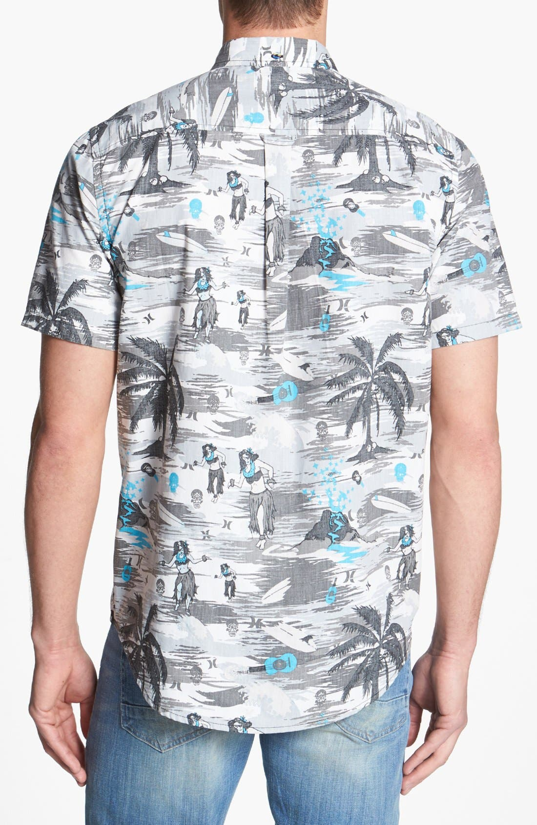 Alternate Image 3  - Hurley 'Suarez' Print Woven Shirt