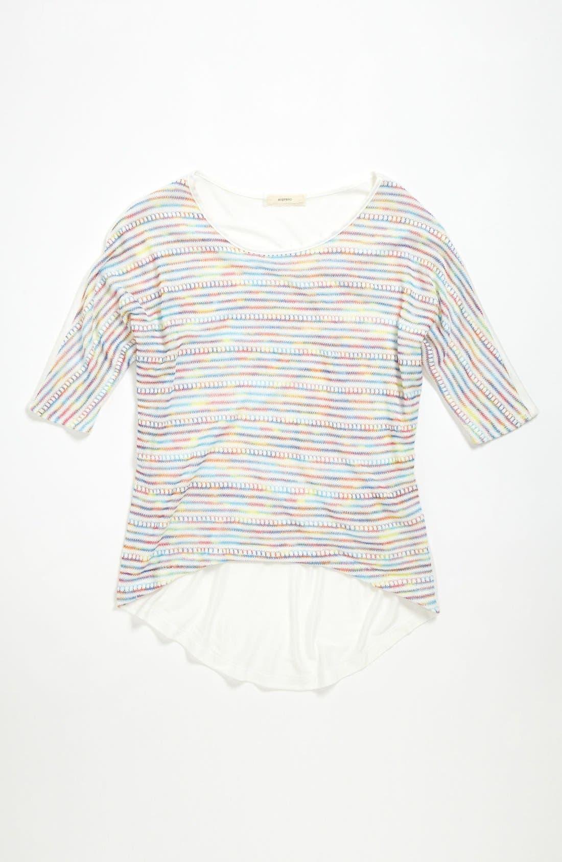 Alternate Image 1 Selected - Soprano Stripe Top (Big Girls)