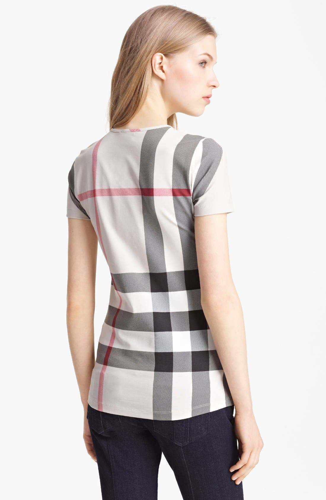 Alternate Image 2  - Burberry Brit Check Print Top