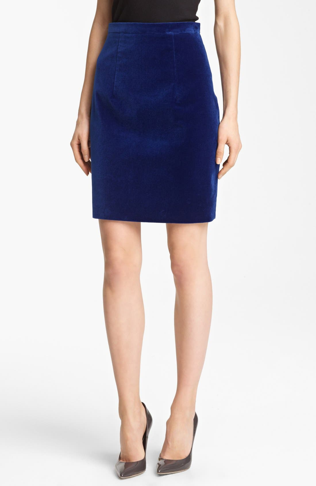 Alternate Image 1 Selected - Christopher Kane Velvet Pencil Skirt