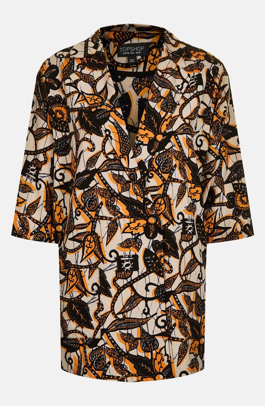 Alternate Image 4  - Topshop Batik Print Kimono Jacket