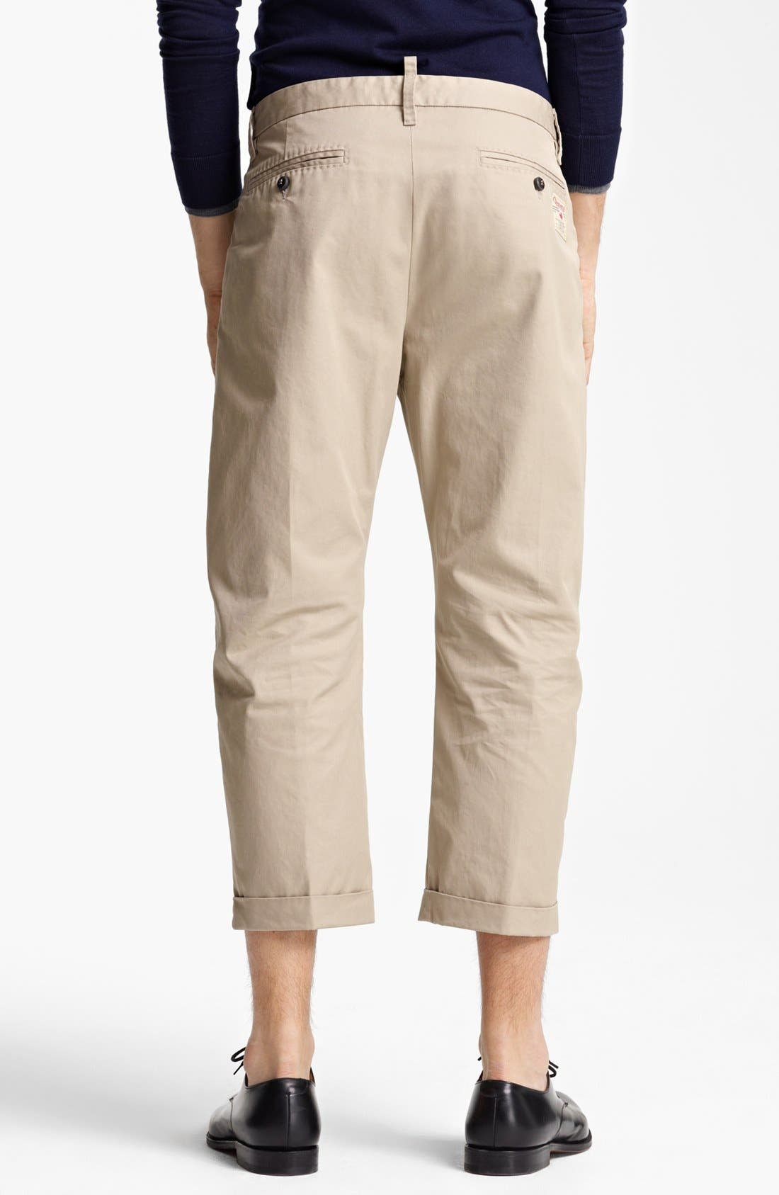 Alternate Image 2  - Dsquared2 'Big Dean's Brother' Cropped Twill Pants