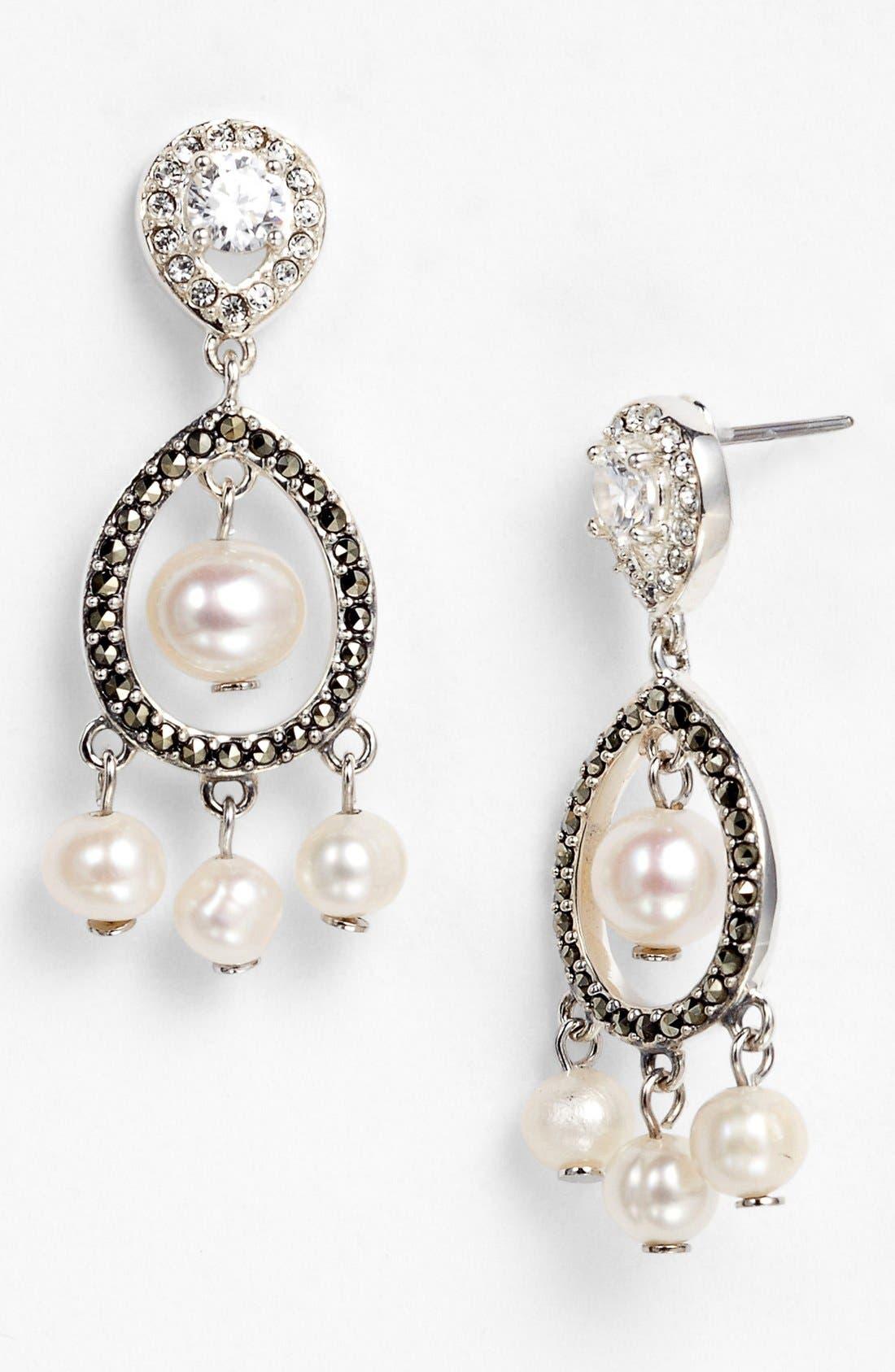 Alternate Image 1 Selected - Judith Jack 'Pearlette' Drop Earrings