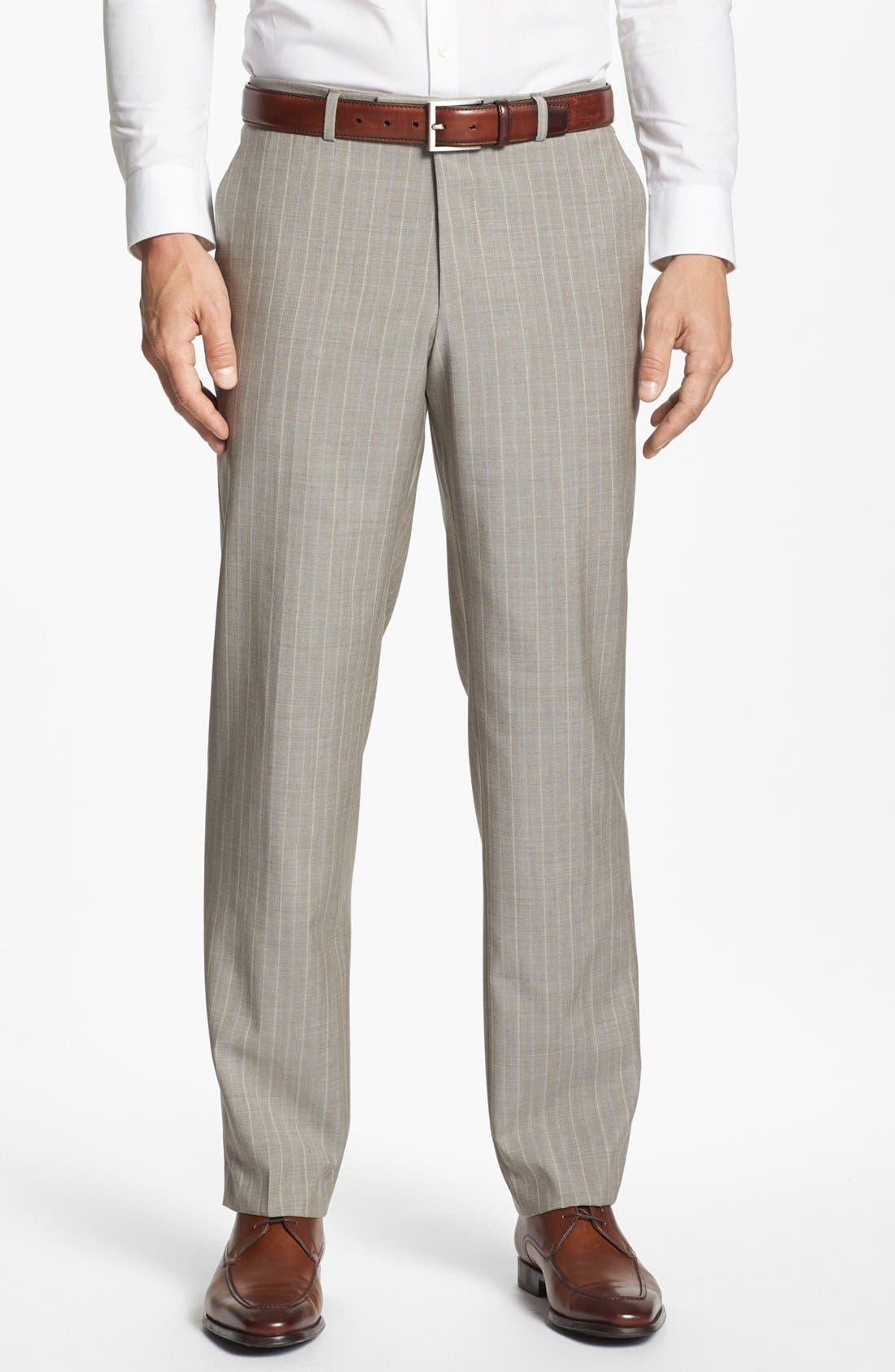 Alternate Image 5  - BOSS Black 'James/Sharp' Trim Fit Stripe Suit (Online Only)