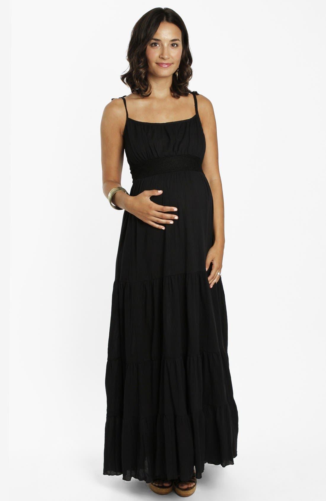 Main Image - Everly Grey 'Poppy' Tiered Maternity Maxi Dress