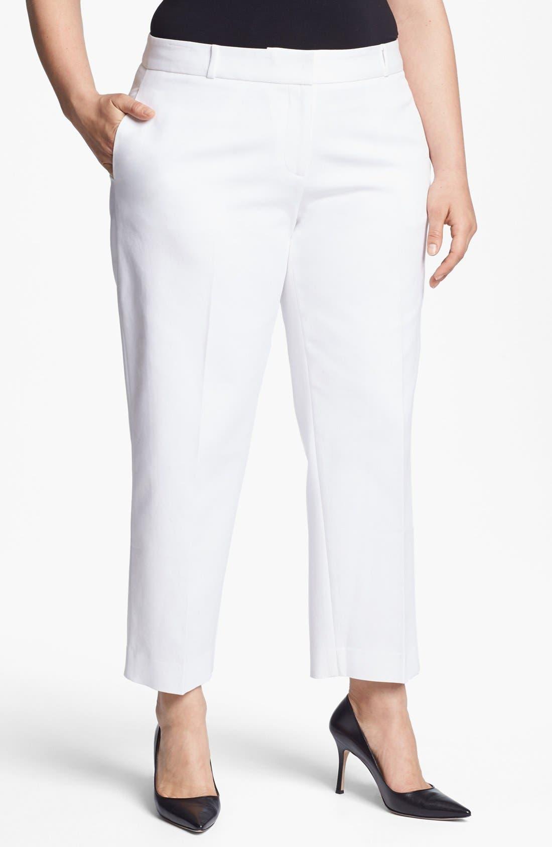 Main Image - Anne Klein Slim Leg Pants (Plus Size)