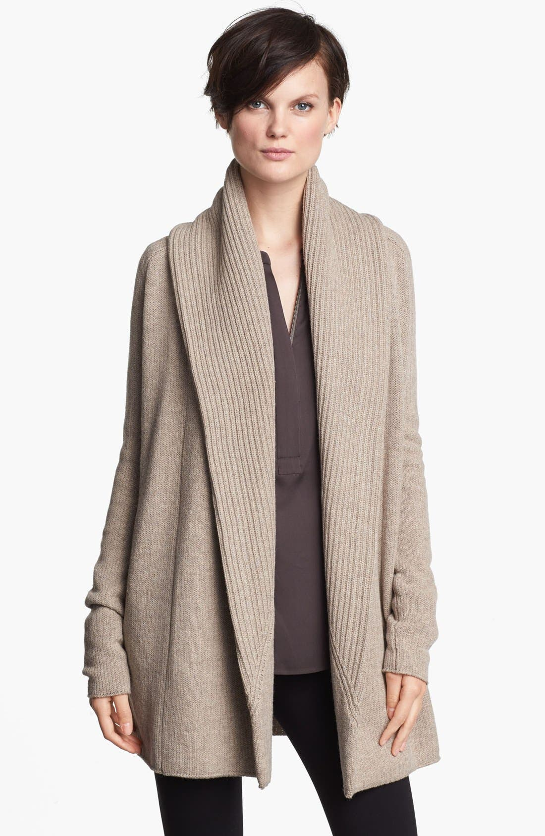 Alternate Image 1 Selected - Vince Ribbed Shawl Cardigan