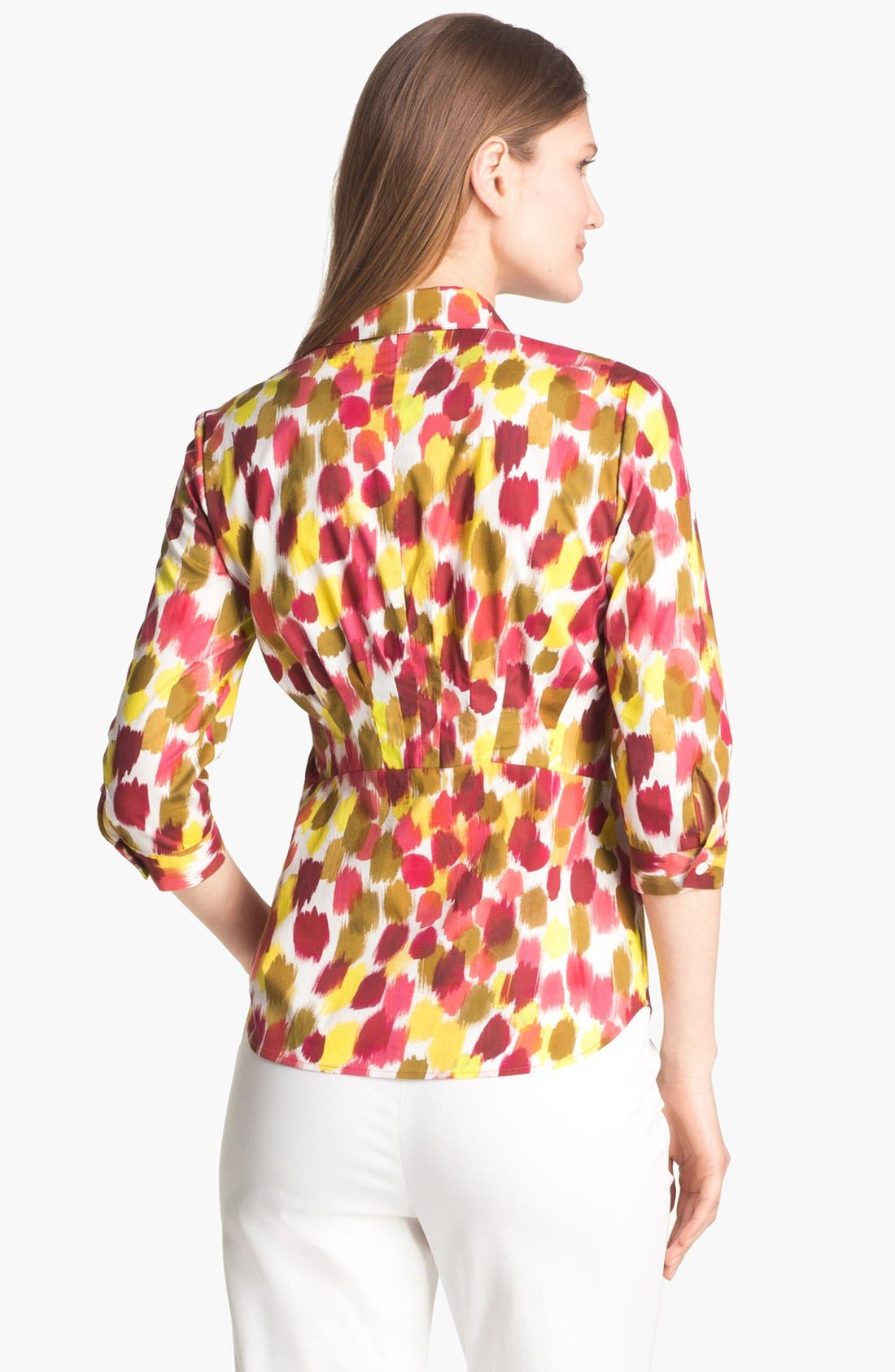 Alternate Image 2  - Lafayette 148 New York 'Sabrina - Malay' Print Blouse