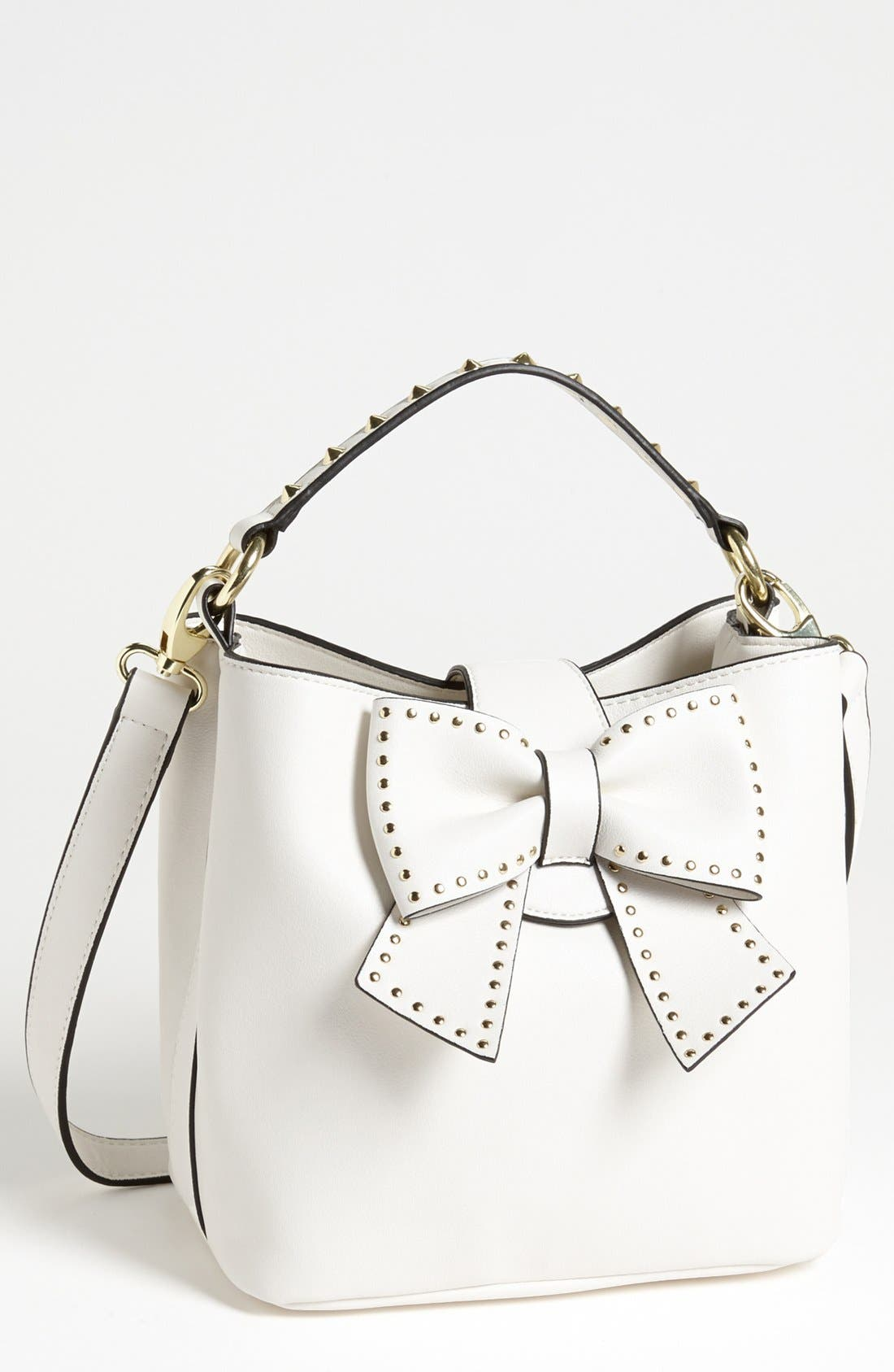 Alternate Image 1 Selected - Betsey Johnson 'Hopeless Romantic' Faux Leather Shoulder Bag