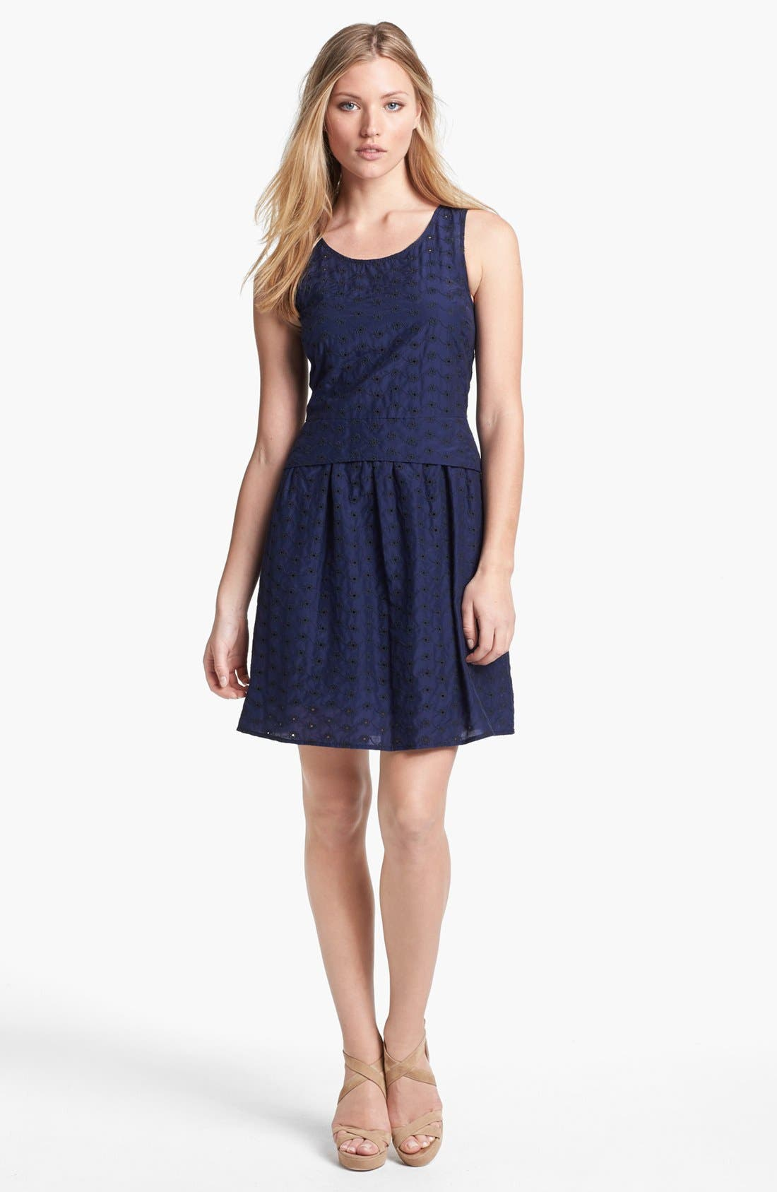 Alternate Image 1 Selected - MARC BY MARC JACOBS 'Rosie' Cotton & Silk A-Line Dress