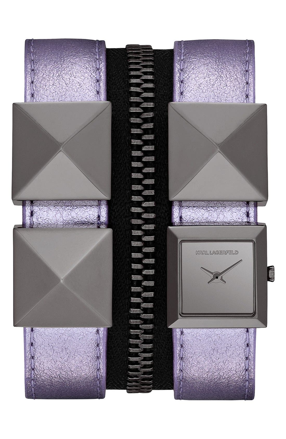 Main Image - KARL LAGERFELD Double Strap Cuff Watch