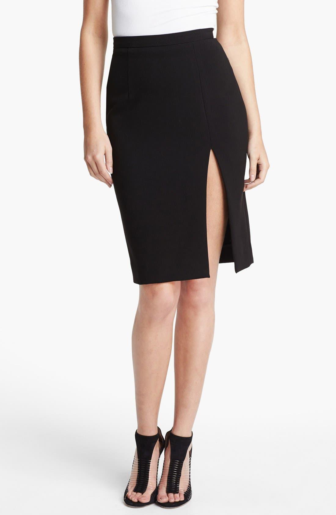 Alternate Image 1 Selected - L'AGENCE High Slit Pencil Skirt