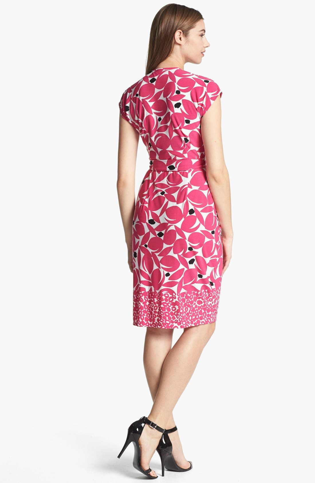 Alternate Image 2  - Maggy London Print Cap Sleeve Jersey Wrap Dress