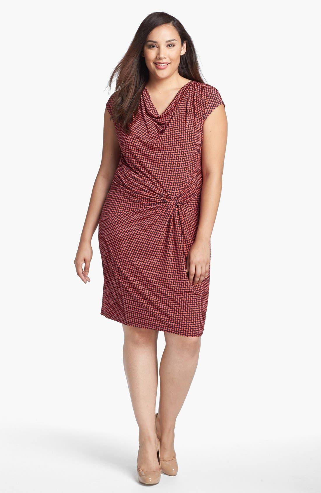 Main Image - MICHAEL Michael Kors Knotted Twist Dress (Plus Size)