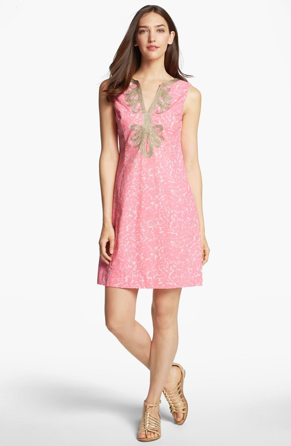 Main Image - Lilly Pulitzer® 'Janise' Embellished Print Shift Dress