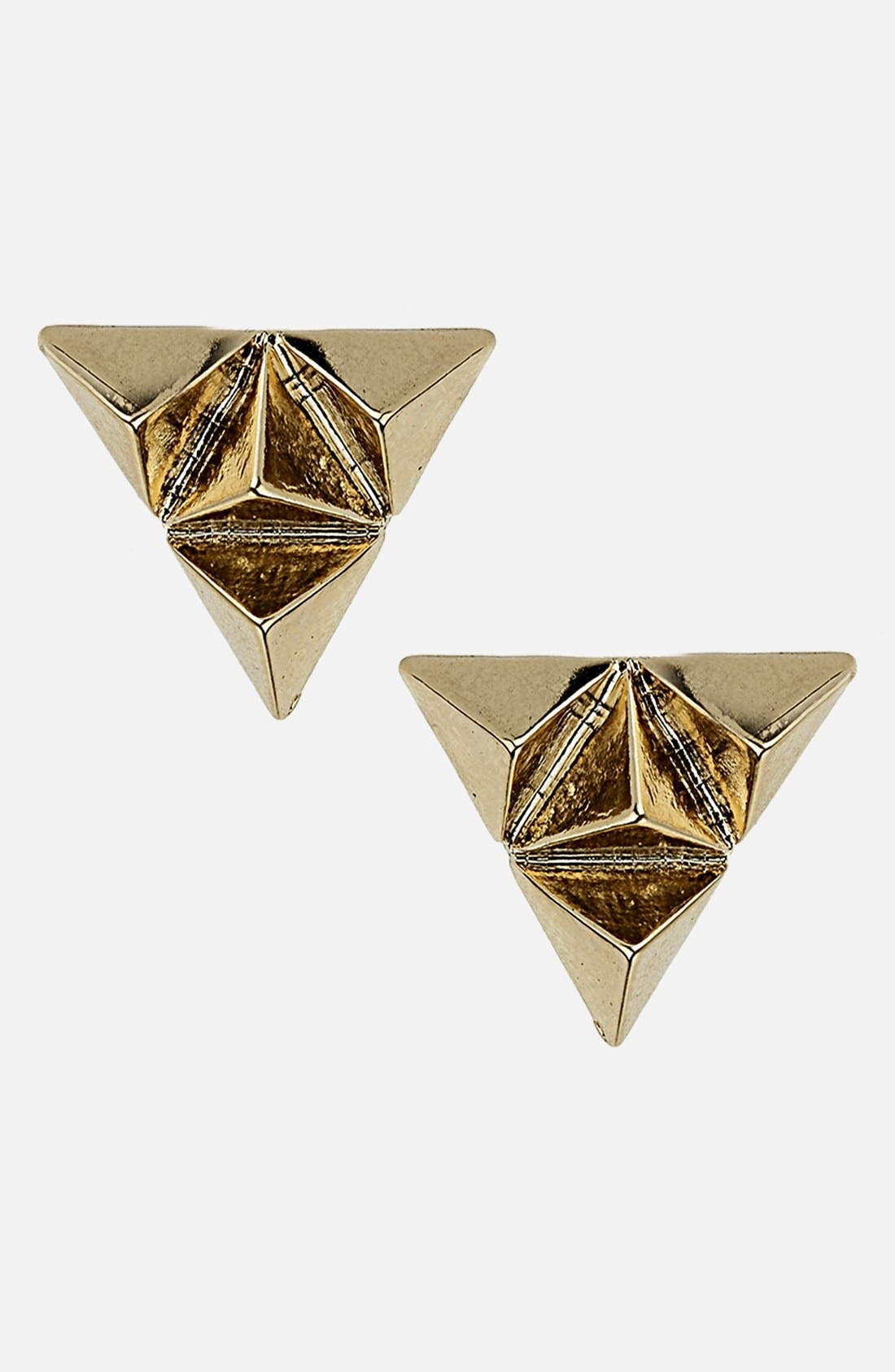 Alternate Image 1 Selected - Topshop Triangle Stud Earrings