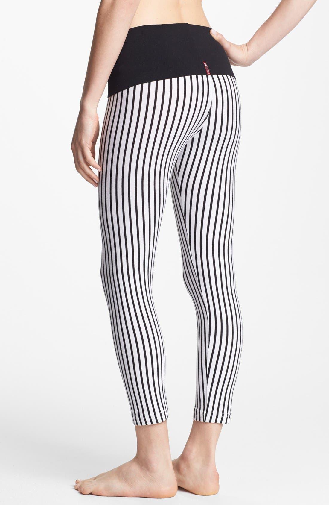 Alternate Image 2  - Hard Tail Vertical Stripe Leggings (Online Only)