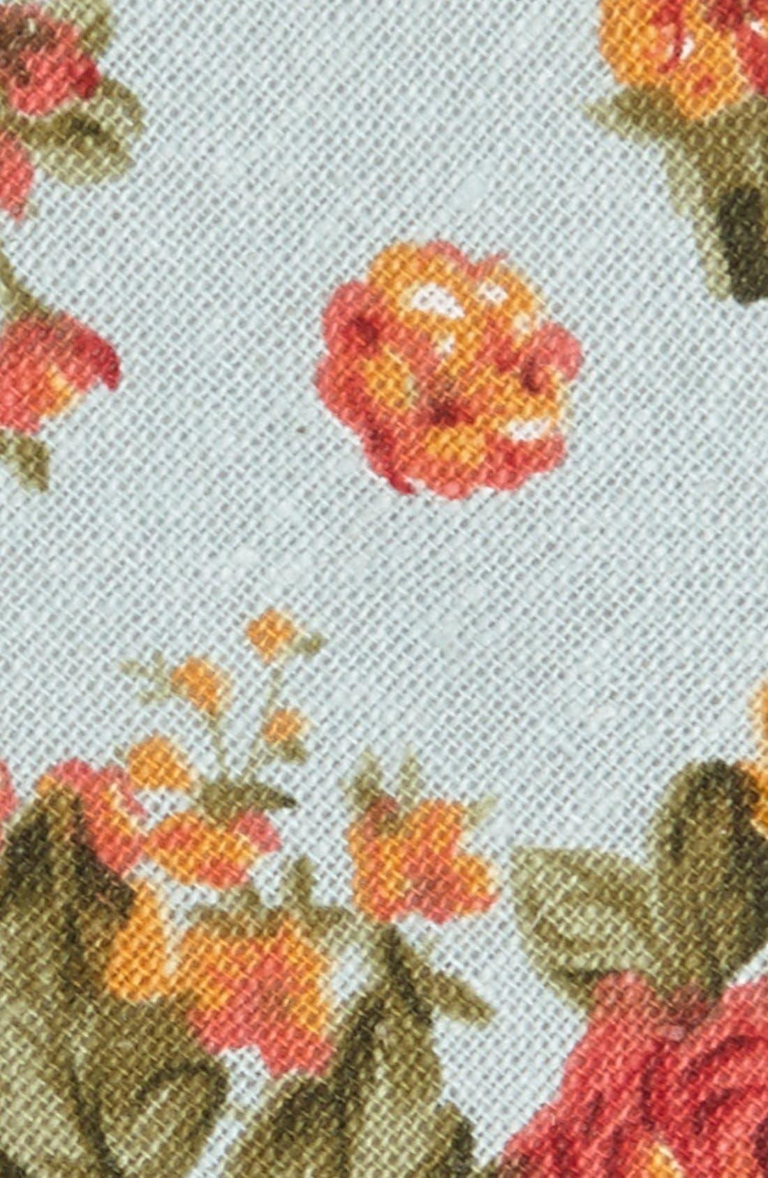 Alternate Image 2  - Topman Floral Print Woven Tie