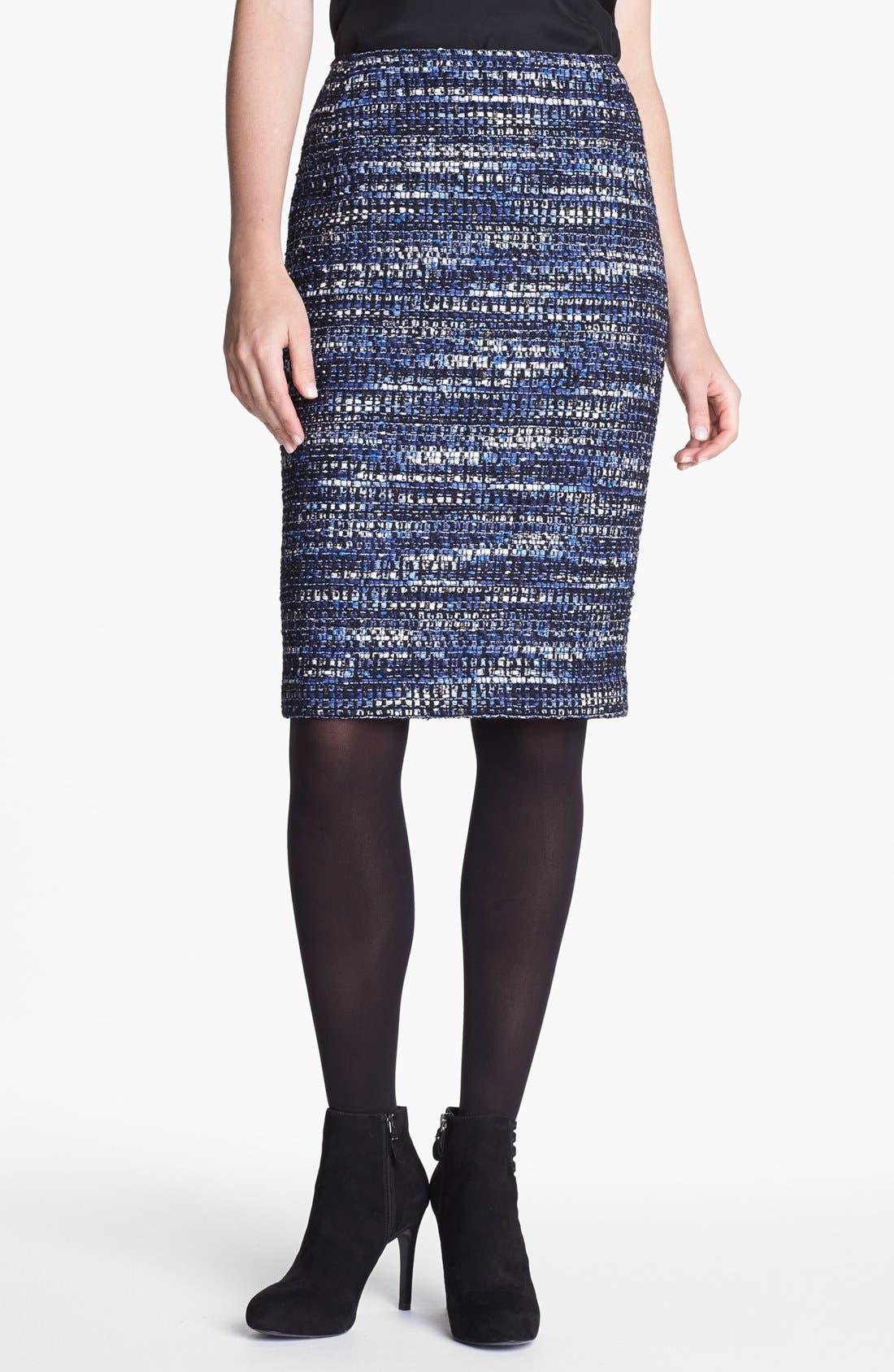 Main Image - Lafayette 148 New York Metallic Tweed Skirt