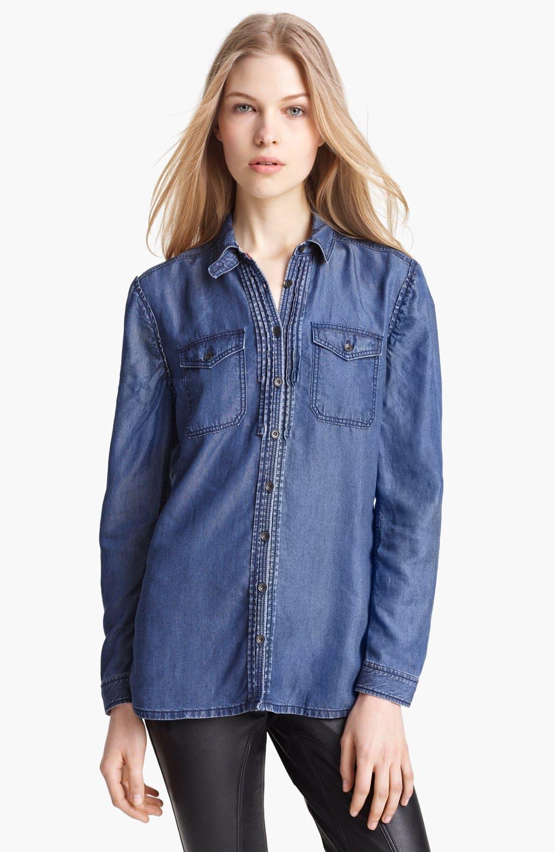 Alternate Image 1 Selected - Burberry Brit Denim Shirt