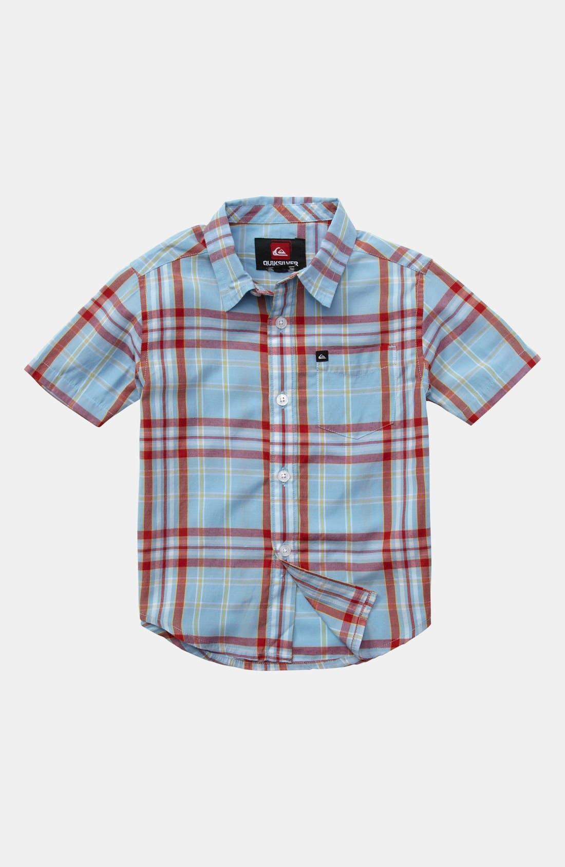 Alternate Image 1 Selected - Quiksilver 'Uncle Pat' Plaid Shirt (Baby Boys)