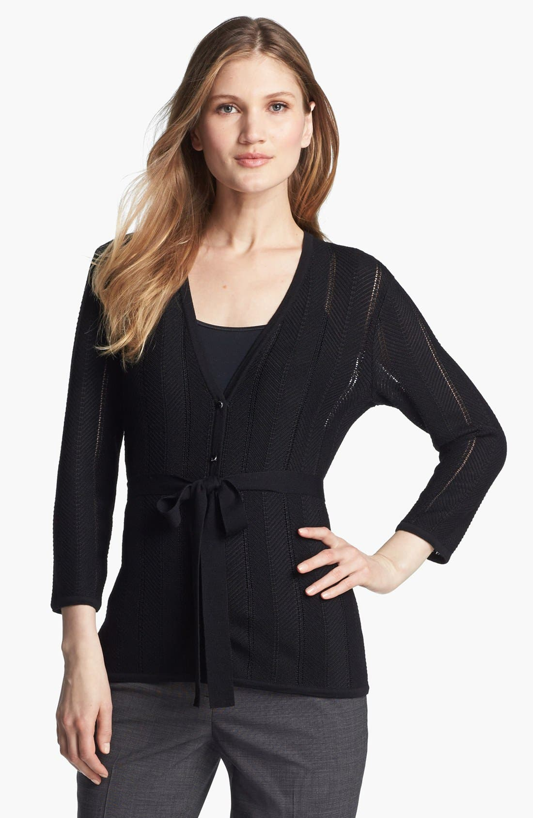 Main Image - Classiques Entier® 'Bella Lana' Belted Cardigan