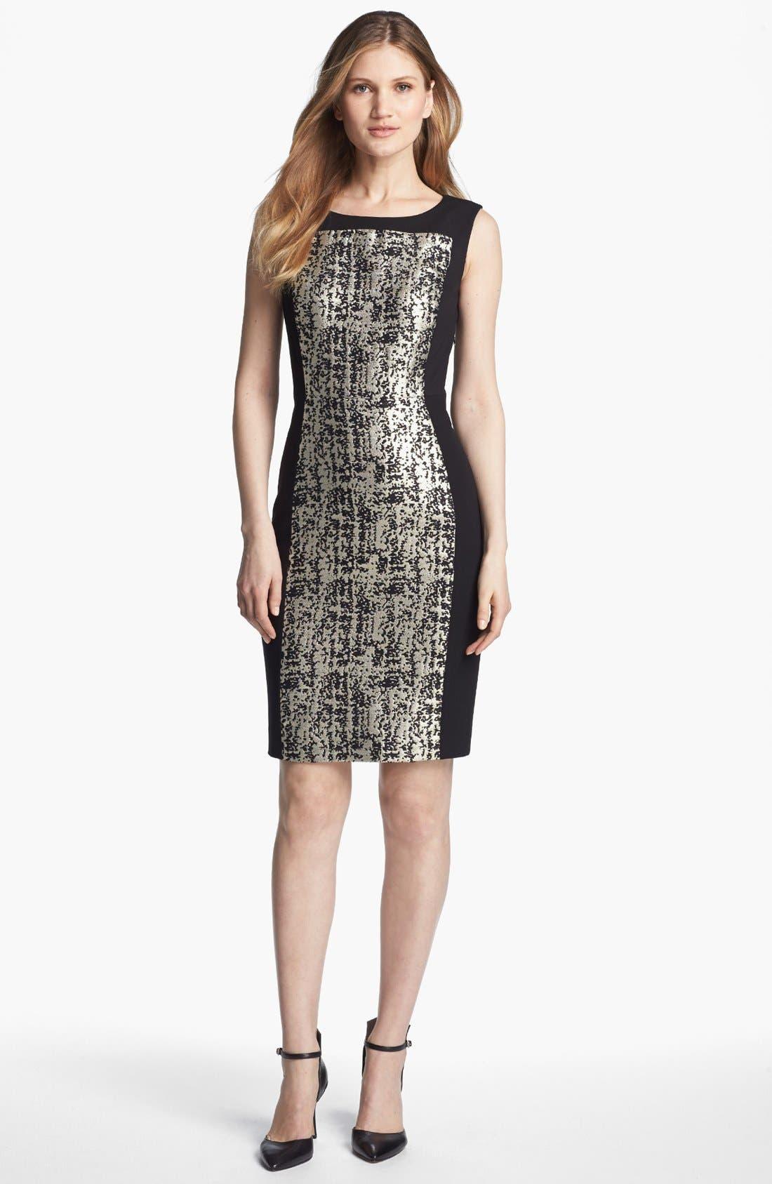 Alternate Image 1 Selected - Classiques Entier® 'Geneva Jacquard' Sheath Dress
