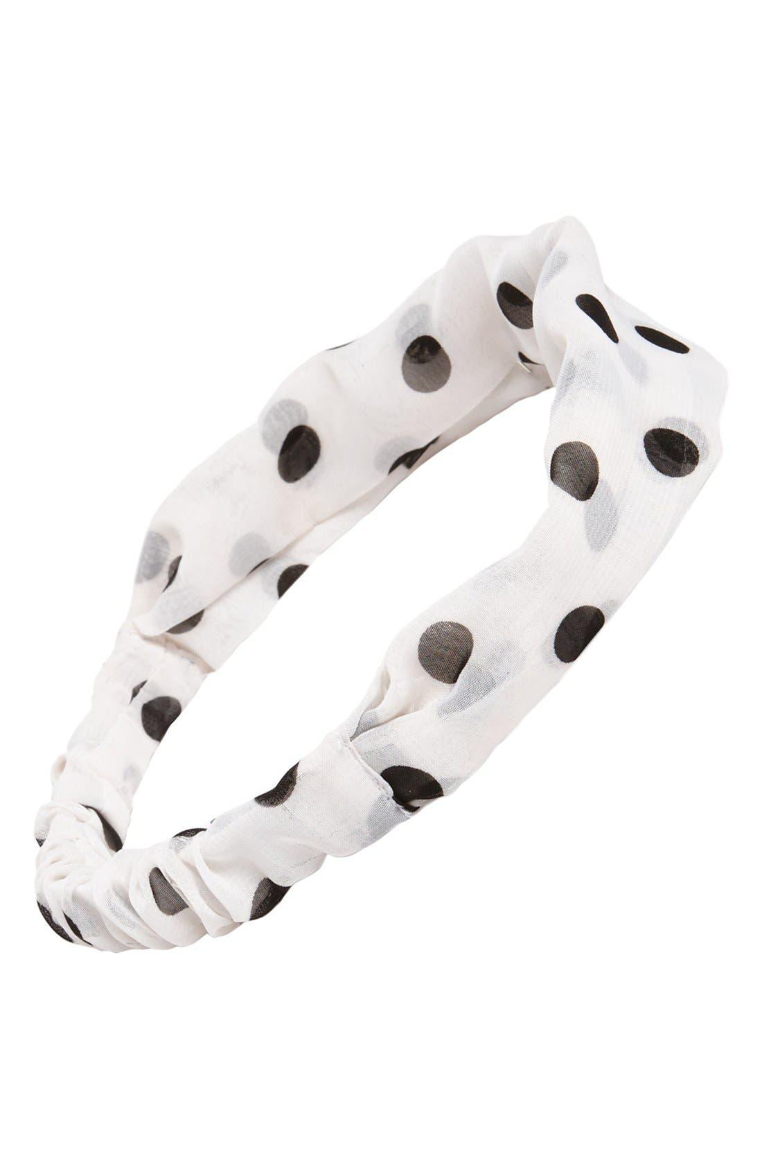 Alternate Image 1 Selected - Tasha Polka Dot Head Wrap