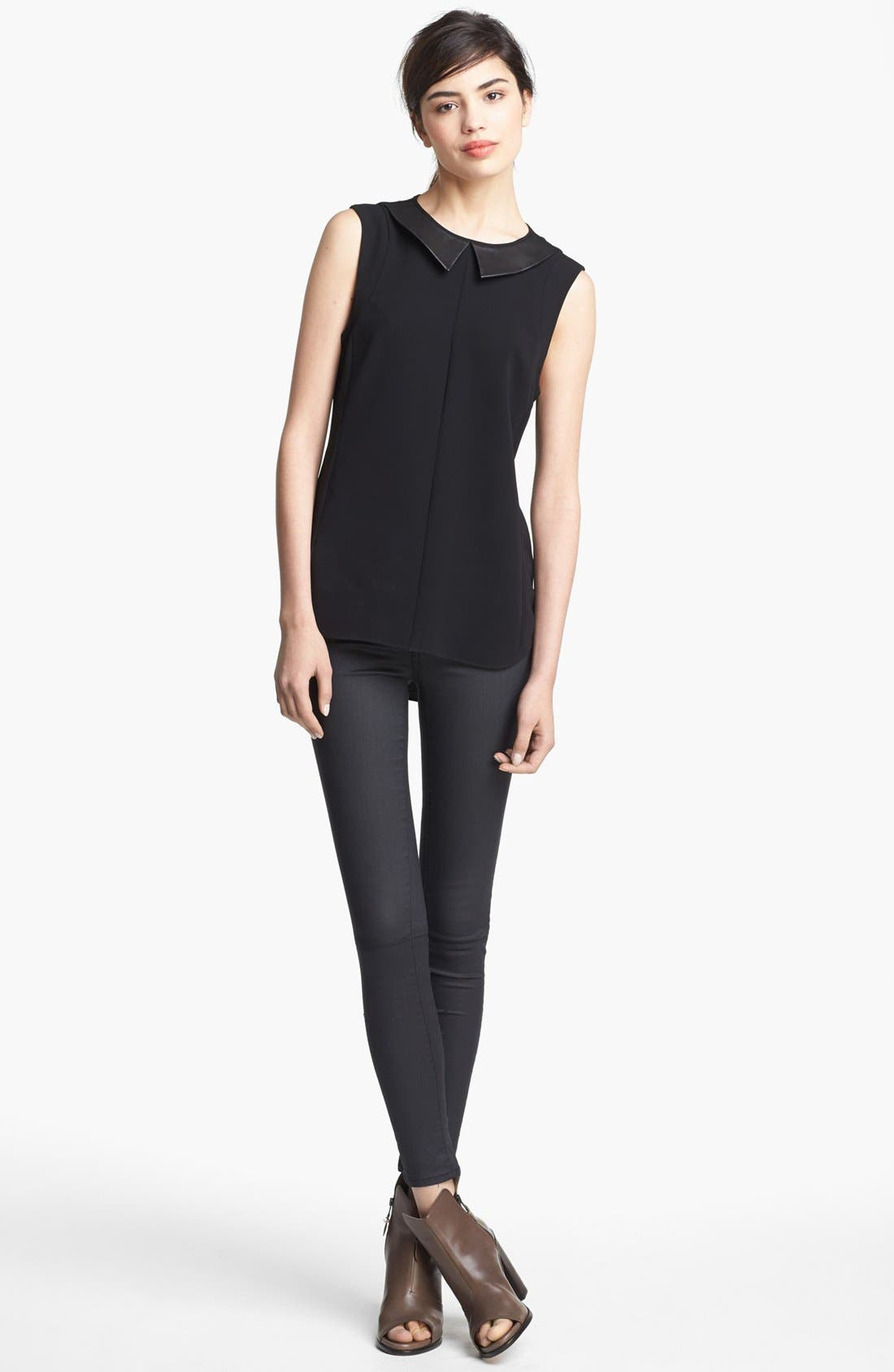 Alternate Image 2  - rag & bone 'Astrid' Leather Collar Top