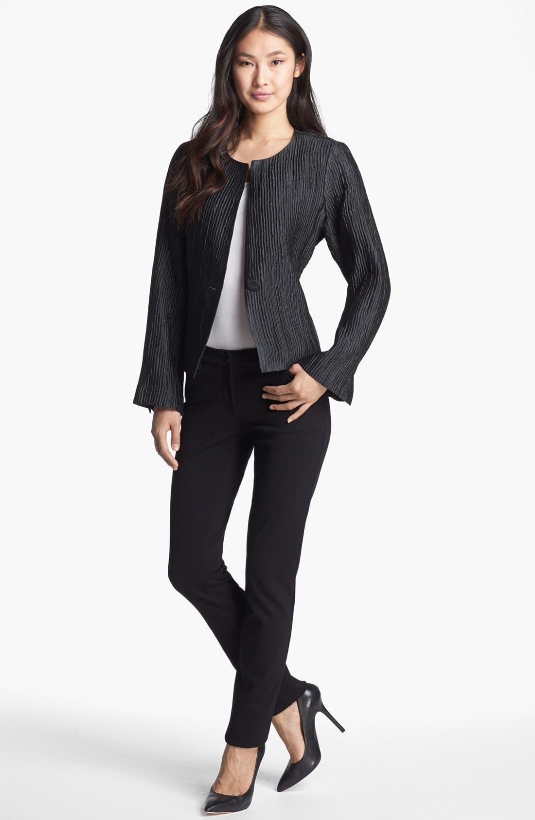 Alternate Image 4  - Eileen Fisher Textured Silk Blend Jacket