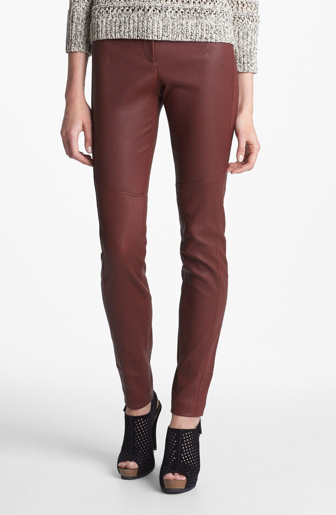 Alternate Image 1 Selected - Diane von Furstenberg 'Liberty' Leather Pants
