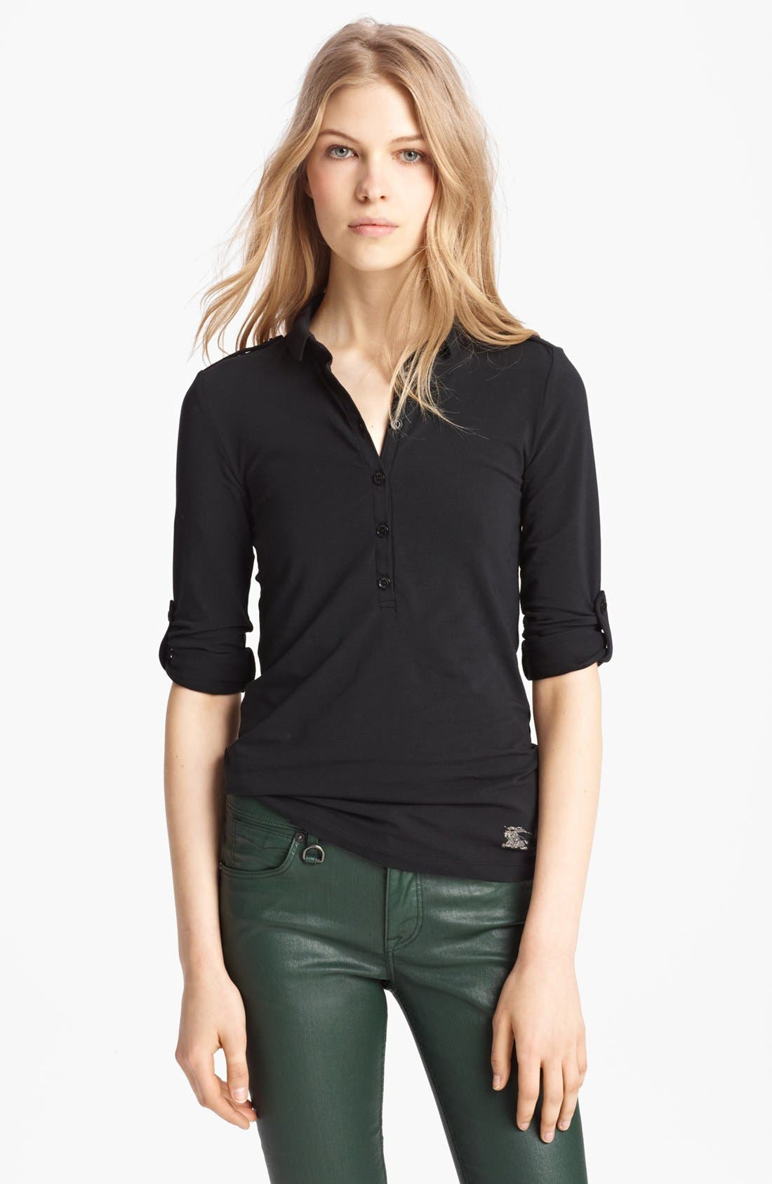 Alternate Image 1 Selected - Burberry Brit Roll Sleeve Top