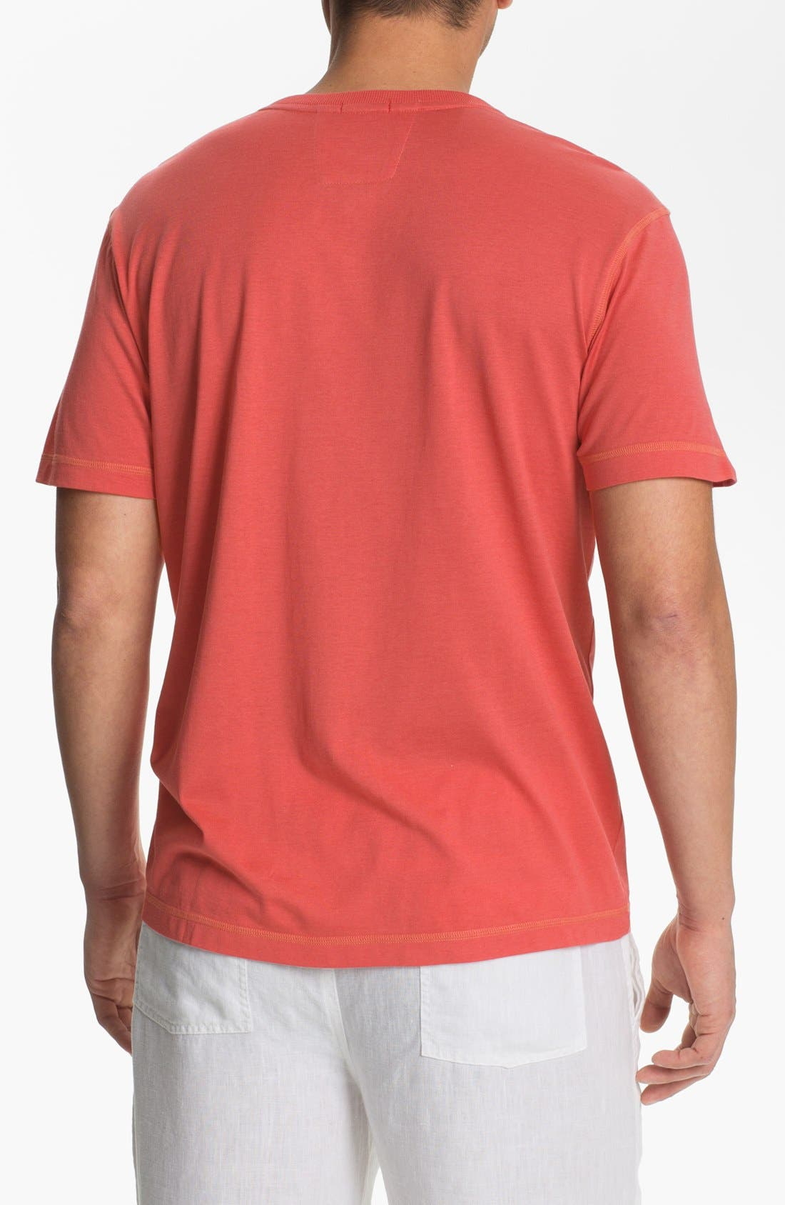 Alternate Image 2  - Daniel Buchler V-Neck Silk Blend T-Shirt