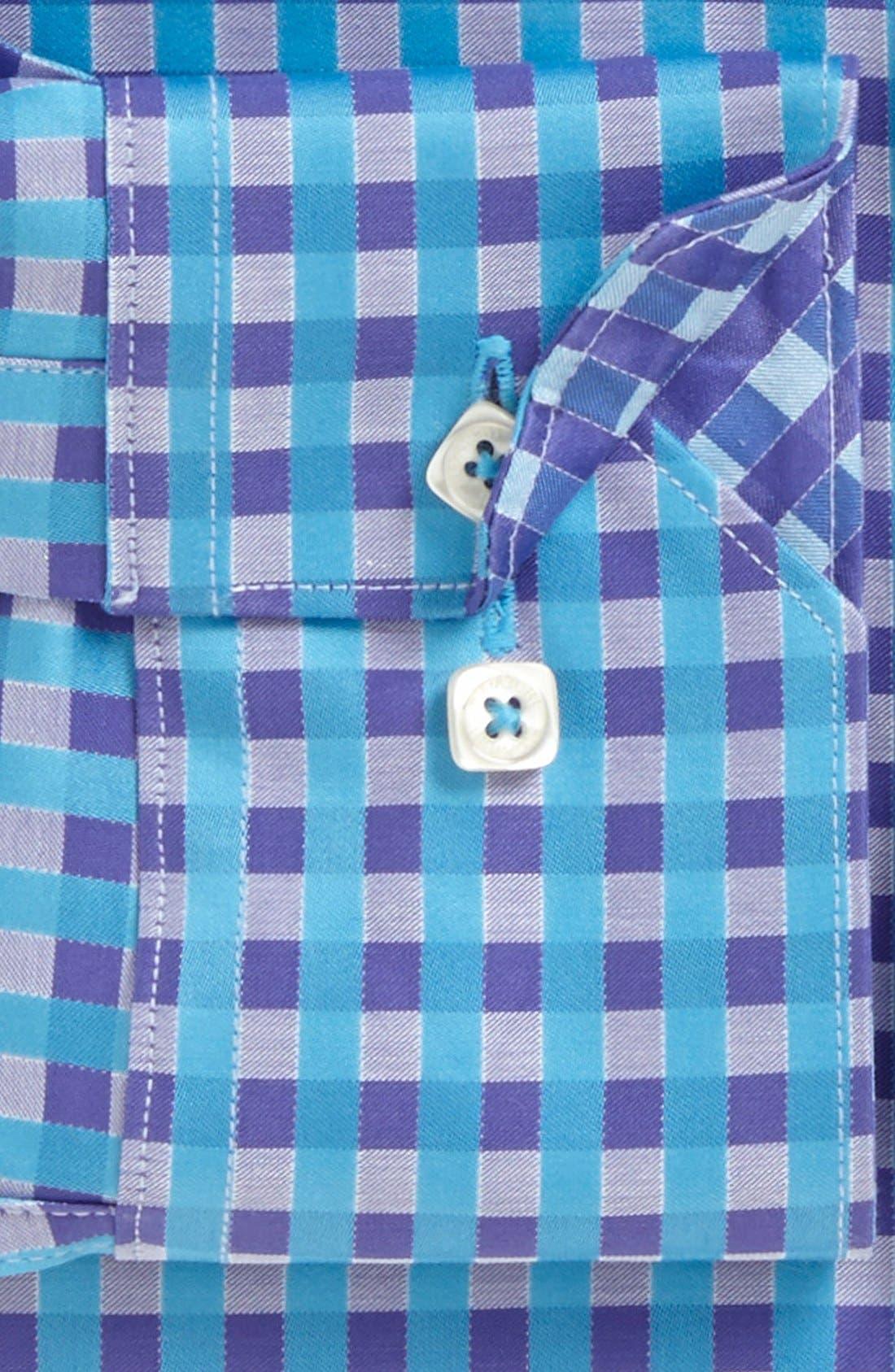 Alternate Image 5  - Bugatchi Gingham Shaped Fit Cotton Sport Shirt