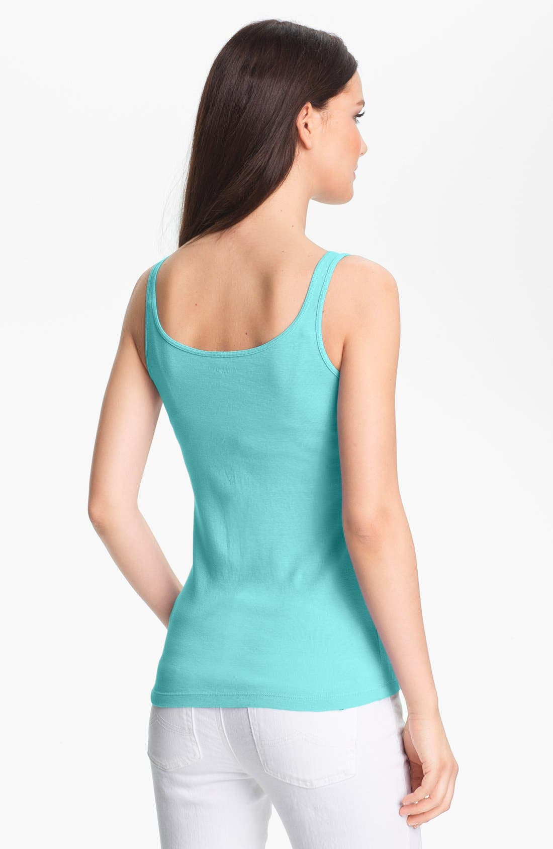 Alternate Image 2  - Eileen Fisher Long Slim Tank (Regular & Petite)