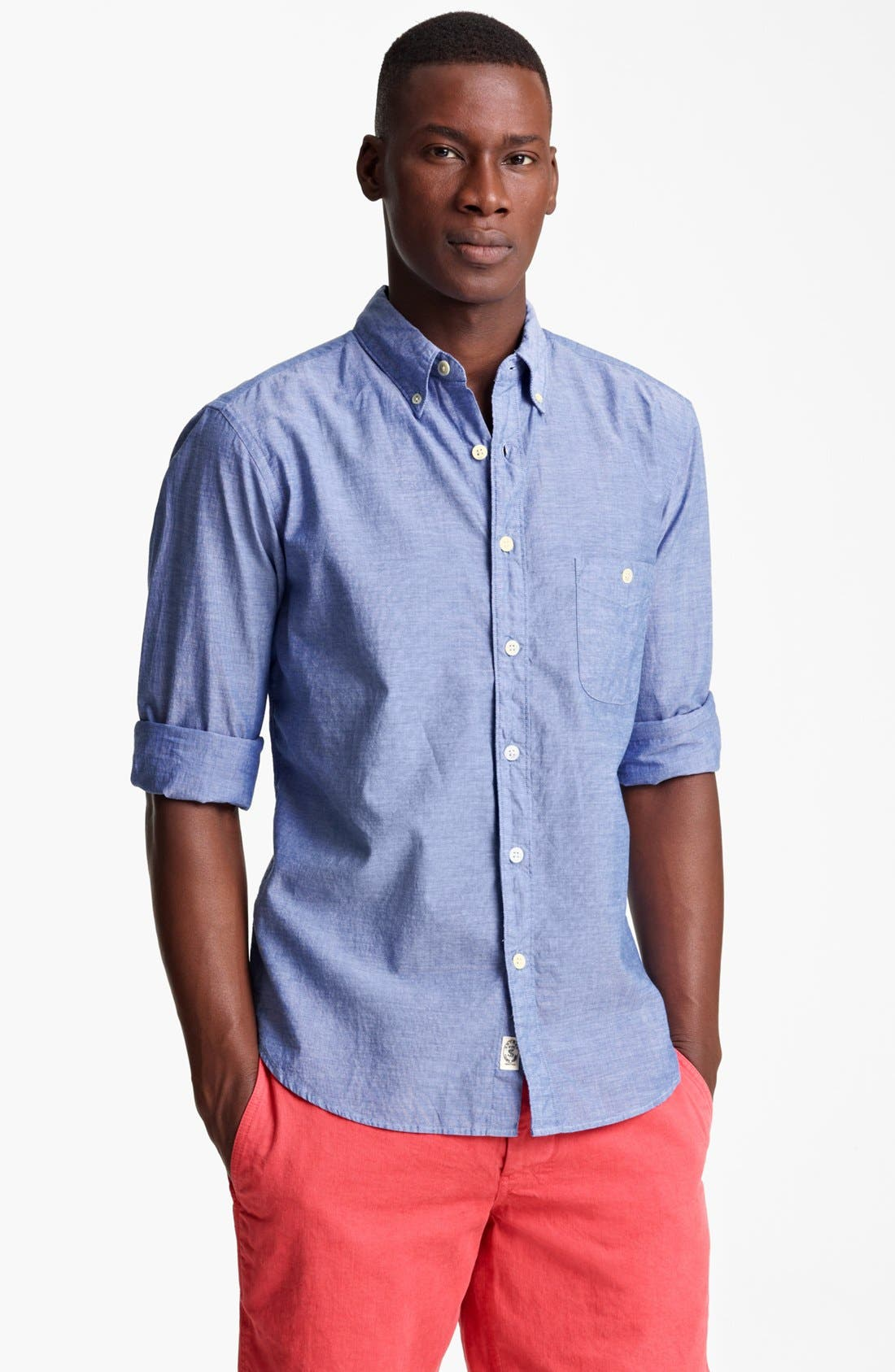 Alternate Image 1 Selected - Todd Snyder Chambray Sport Shirt