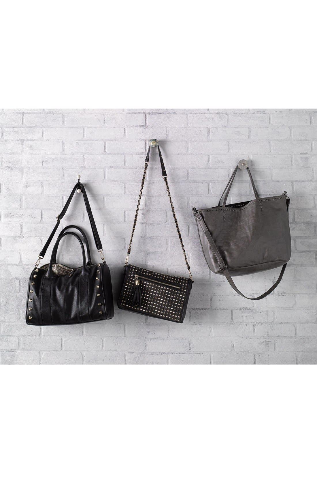 Alternate Image 7  - Emperia Studded Faux Leather Barrel Bag, Large