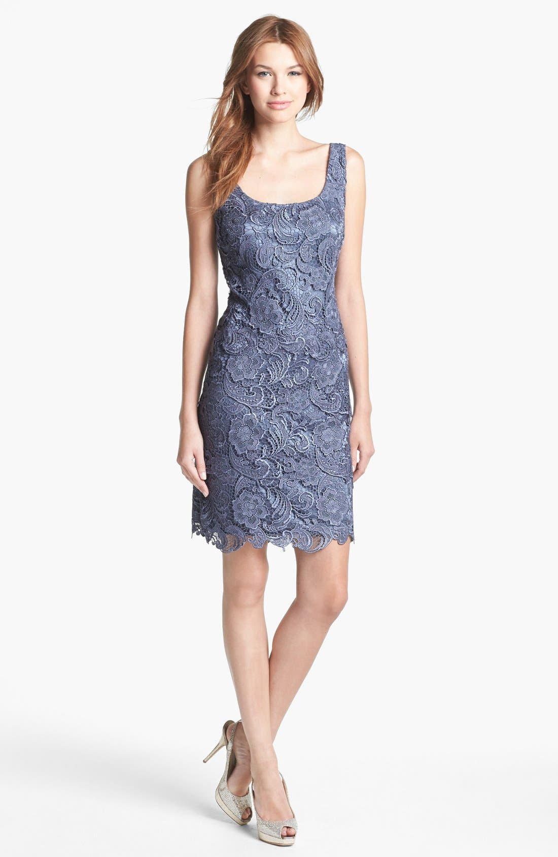 Alternate Image 1 Selected - Patra Sleeveless Lace Sheath Dress