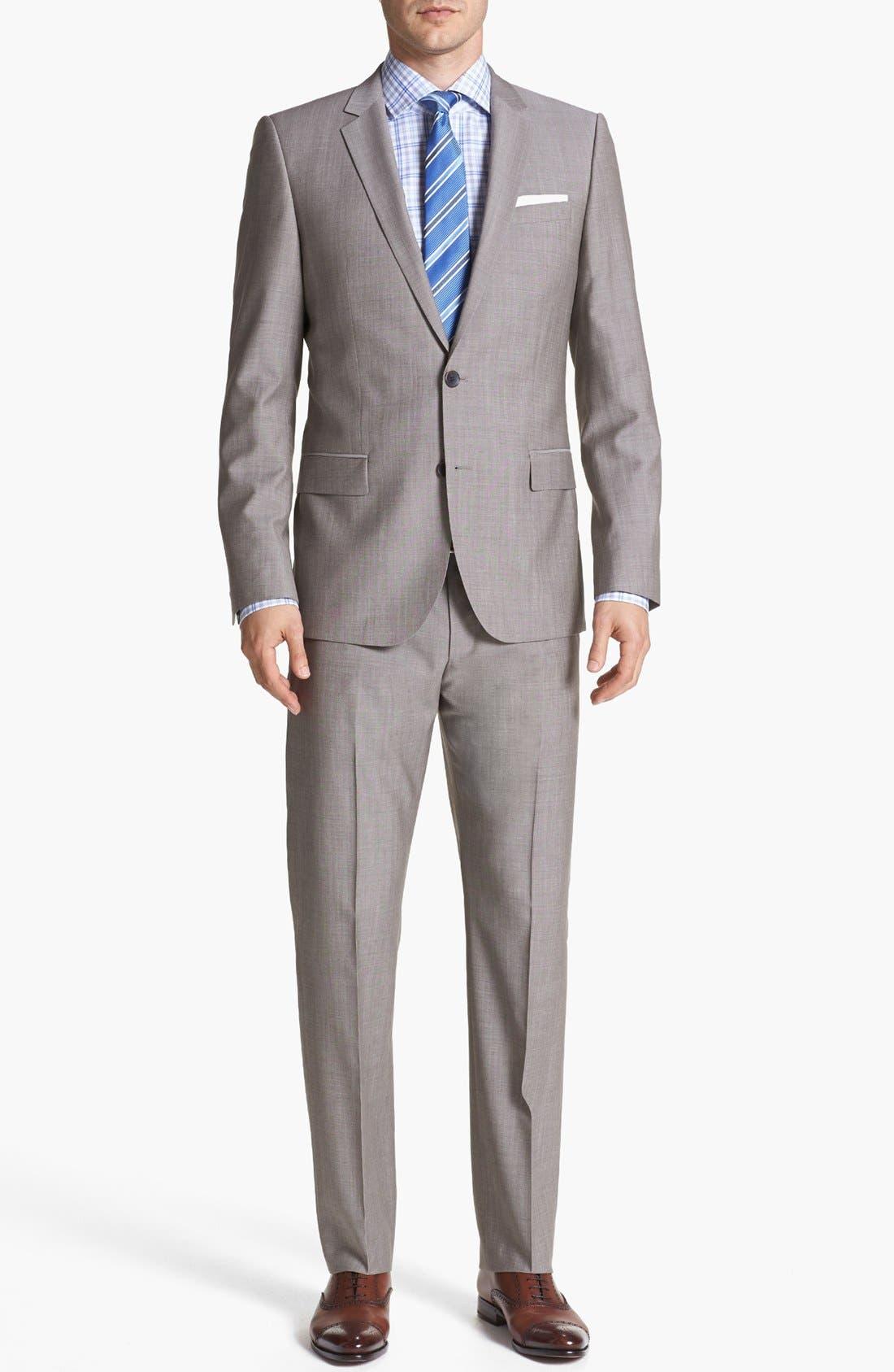 Alternate Image 1 Selected - HUGO 'Amaro/Heise' Extra Trim Fit Suit