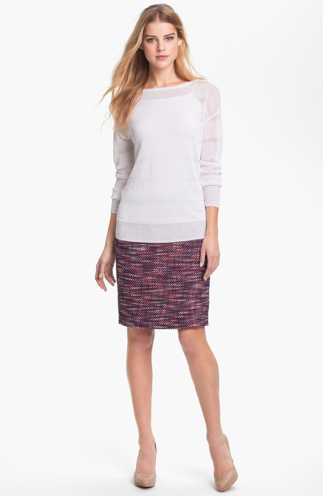 Alternate Image 4  - Halogen® Tweed Pencil Skirt (Petite)