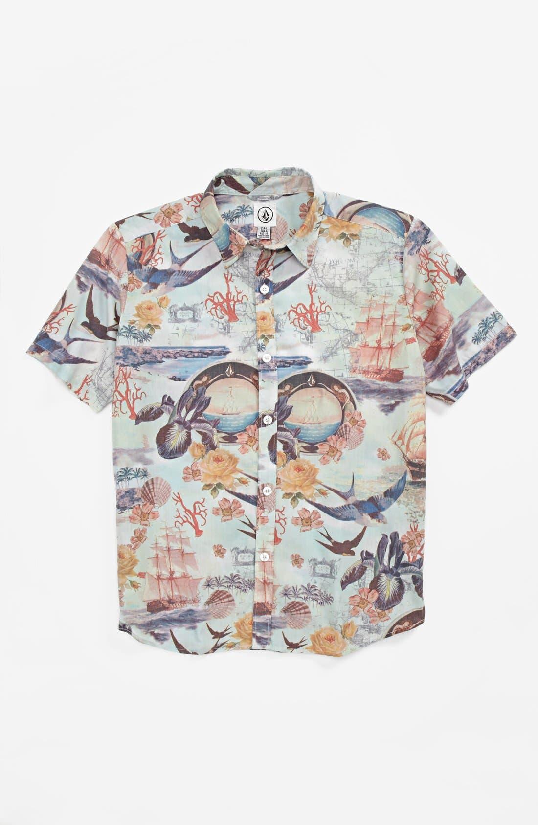 Main Image - Volcom 'Ol' Shipster' Short Sleeve Sport Shirt (Big Boys)