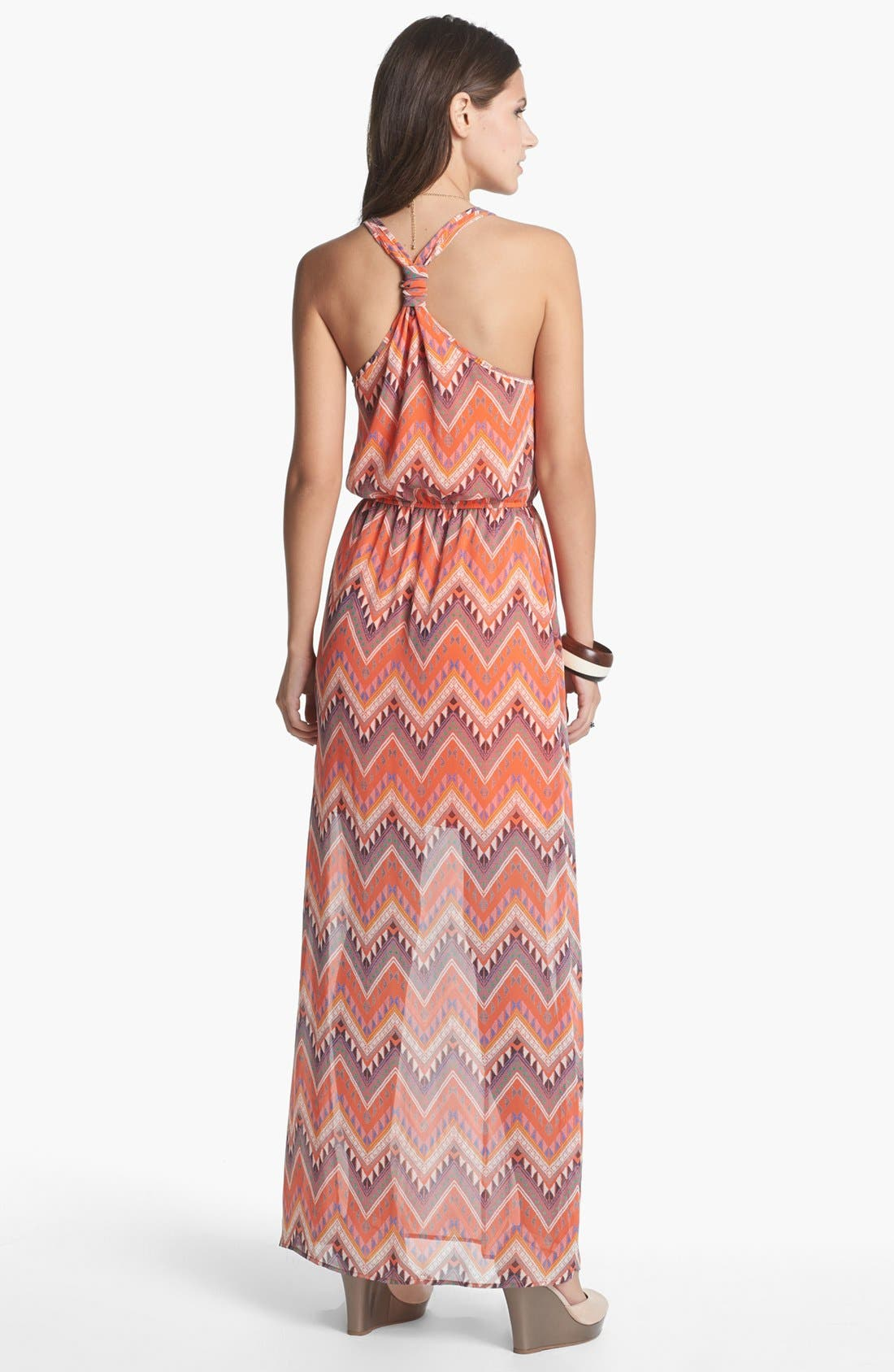 Alternate Image 3  - dee elle Racerback Print Maxi Dress (Juniors)