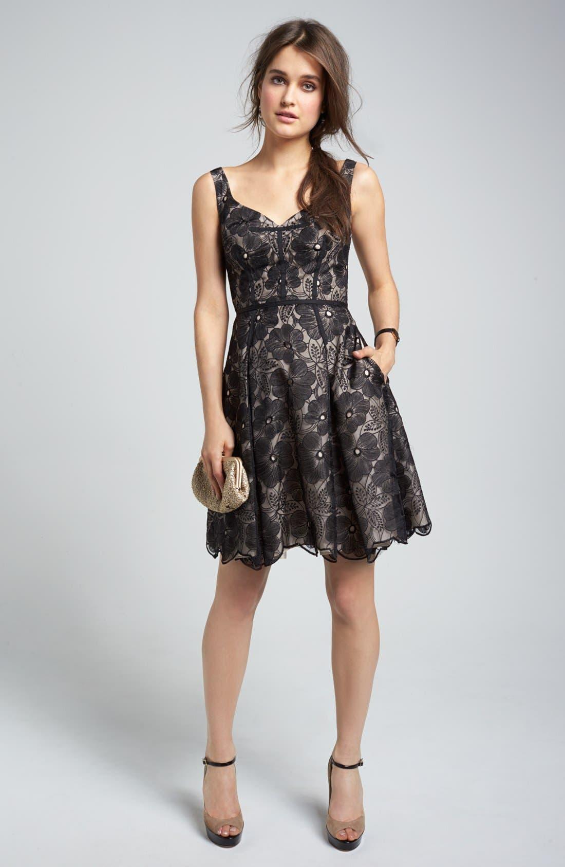 Alternate Image 4  - Jill Jill Stuart Embroidered Organza Fit & Flare Dress