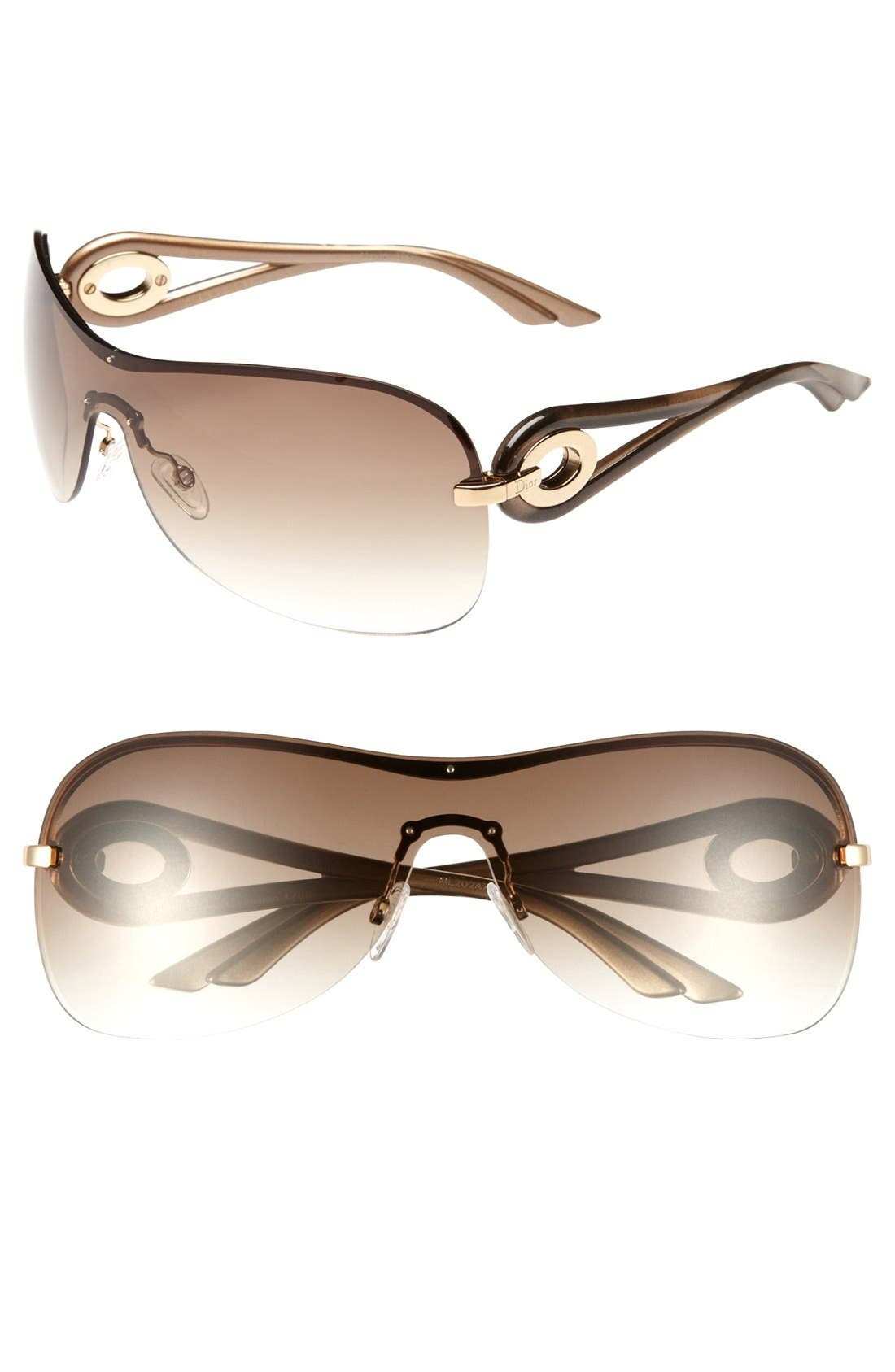 Alternate Image 1 Selected - Dior 'Volute 3' 99mm Shield Sunglasses